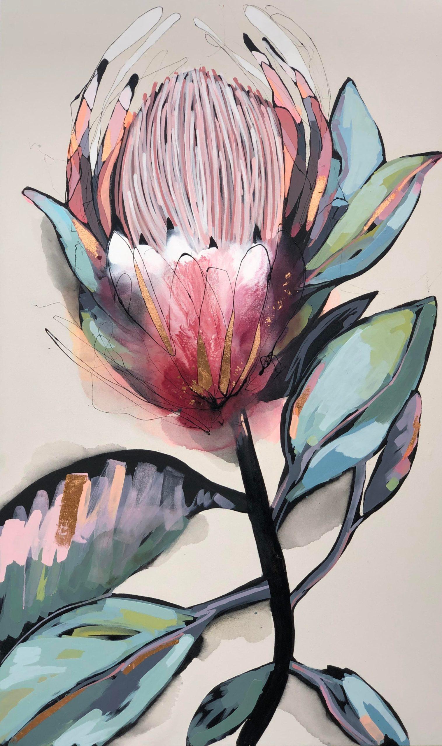 Vicky Sanders Protea Series - Anastasia's Protea