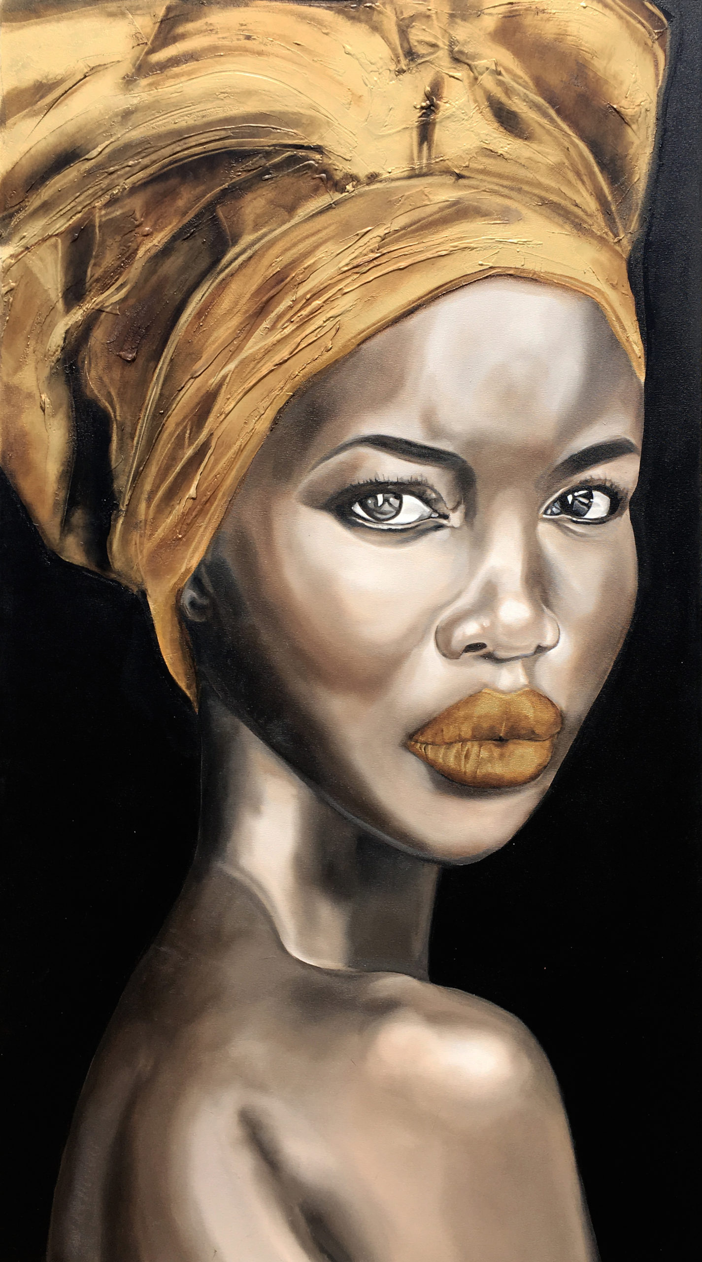 Vicky Sanders Realistic - African Portrait #2