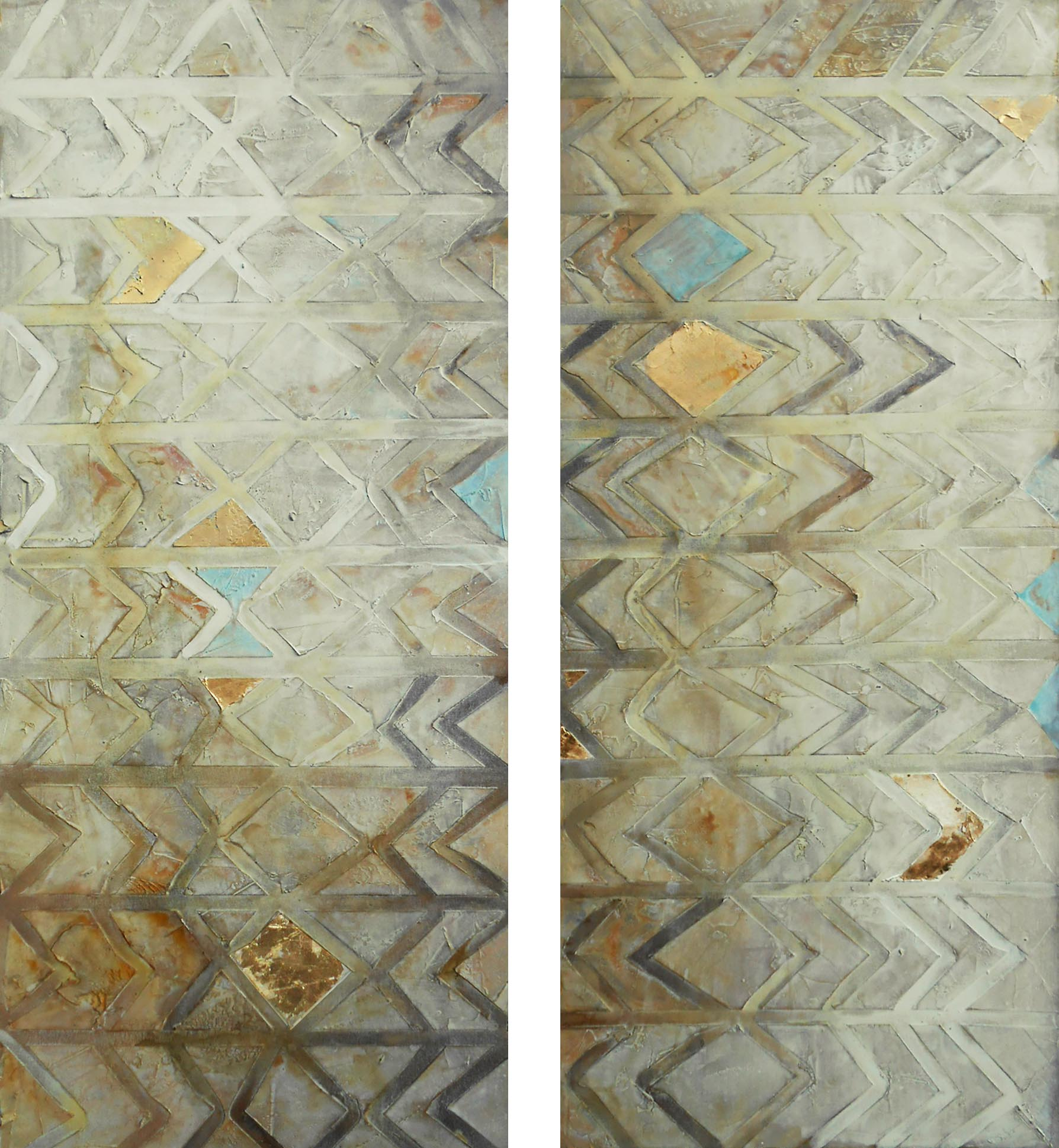 Vicky Sanders Abstract - Aztec Walls