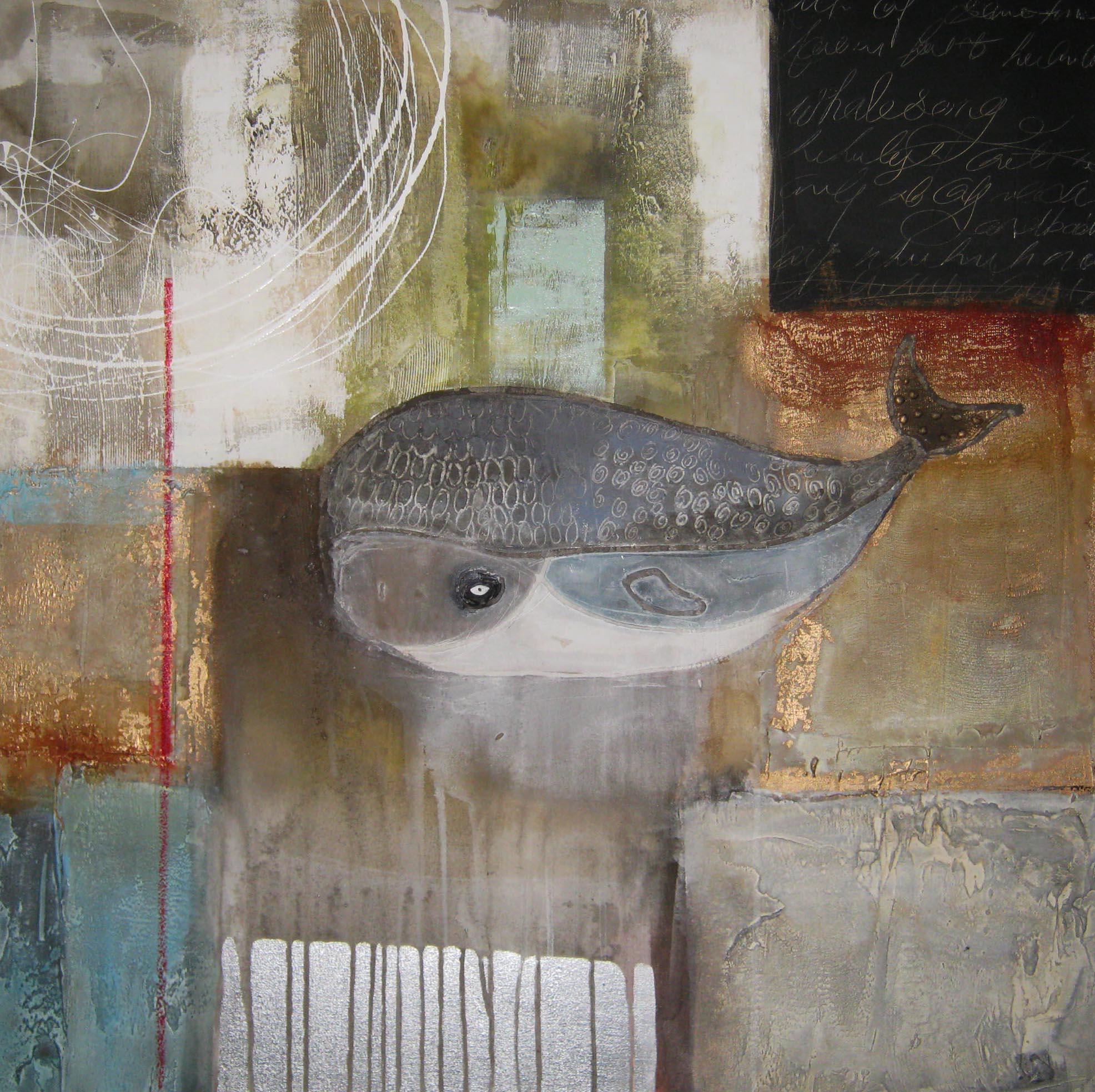 Vicky Sanders Abstract Figurative - Baby Whale