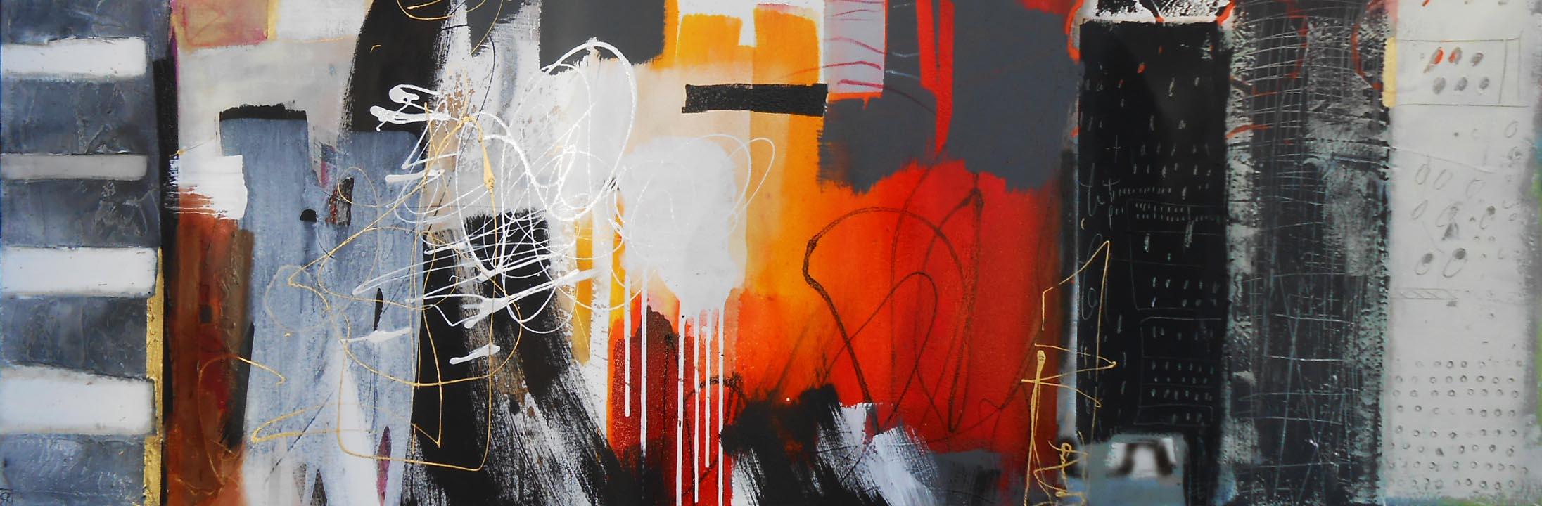 Vicky Sanders Abstract - Big City Life