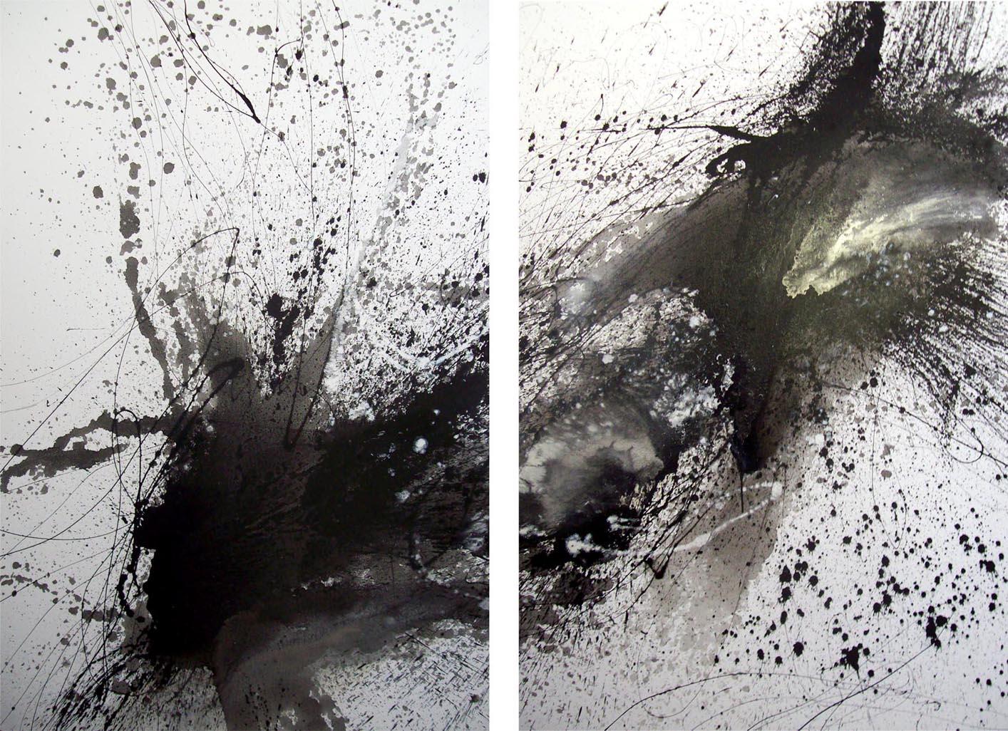 Vicky Sanders Abstract - Black Splat
