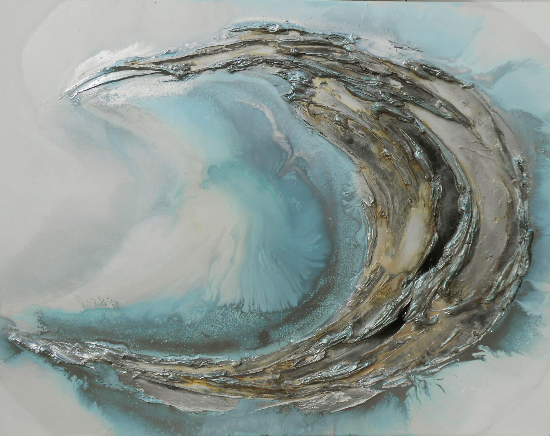 Vicky Sanders Oyster Series - Blue Oyster #3