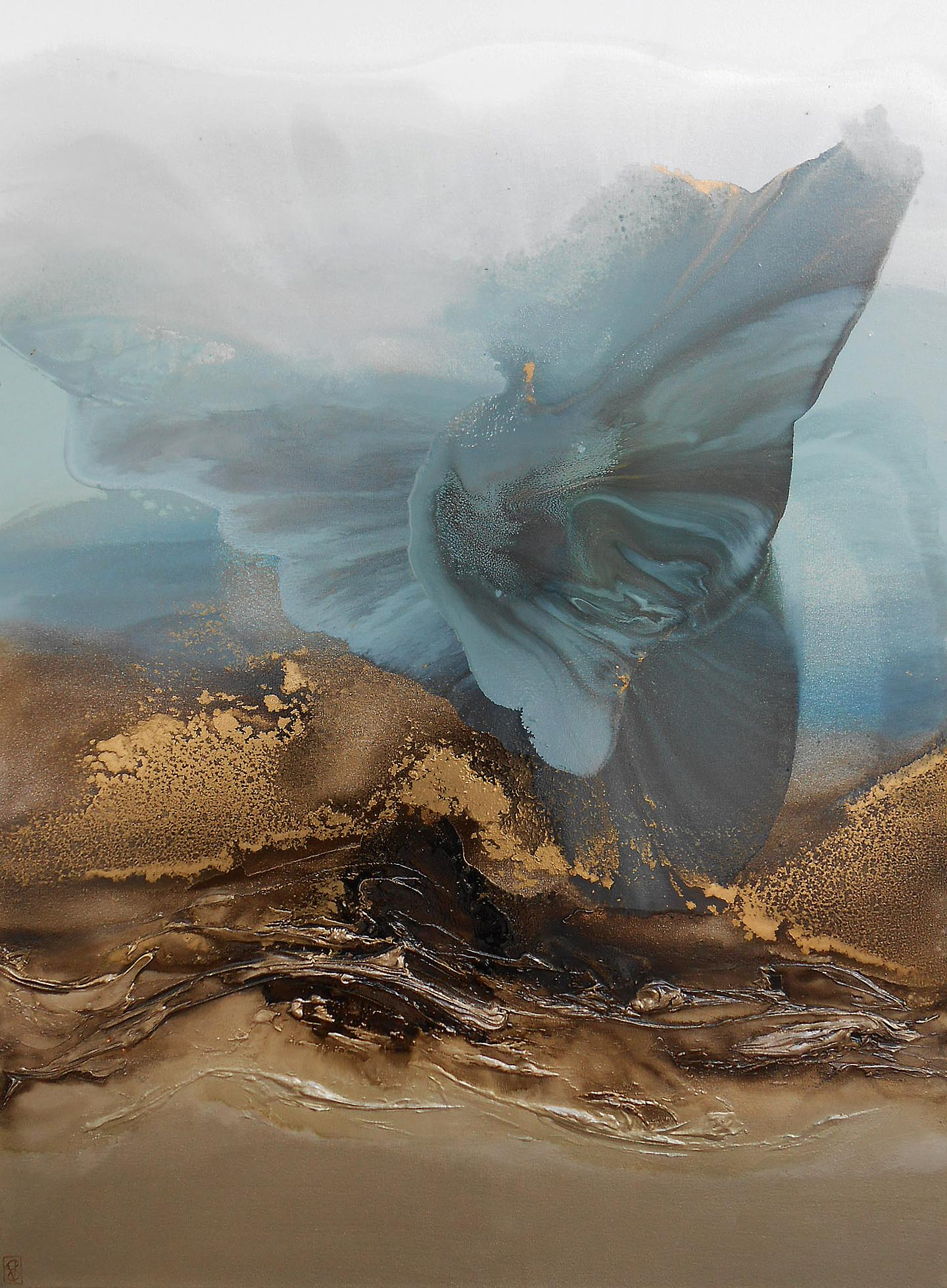 Vicky Sanders Abstract - Butterfly Wing