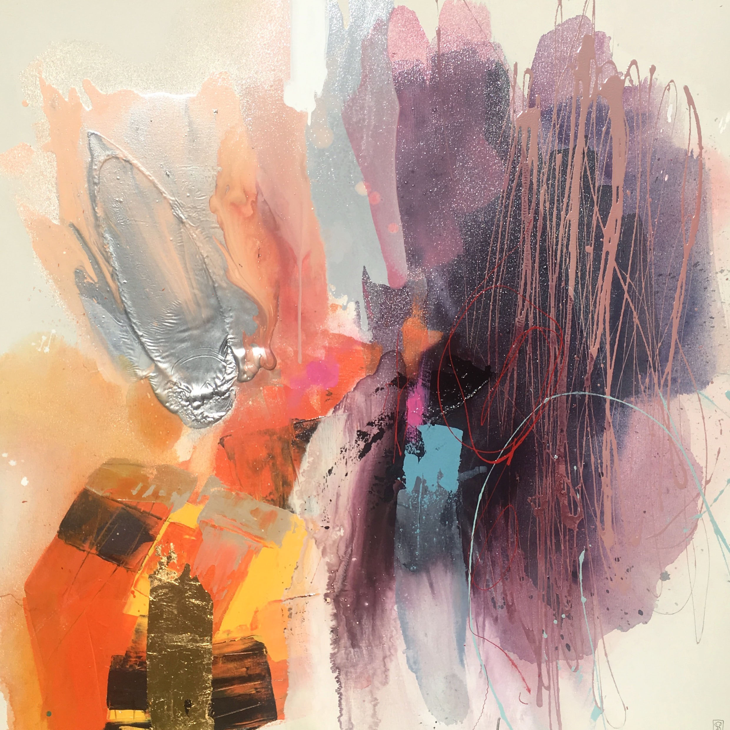 Vicky Sanders Abstract - Candy Floss