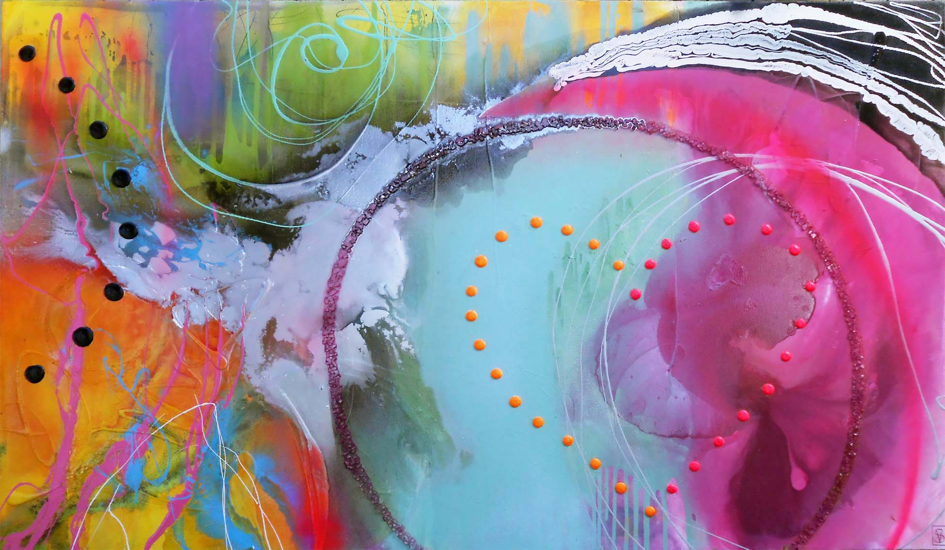 Vicky Sanders Abstract - Candy Heart