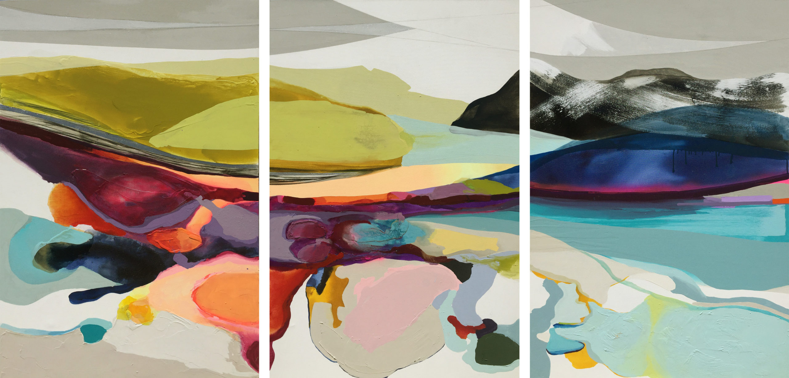 Vicky Sanders Abstract - Candy Mountain 2