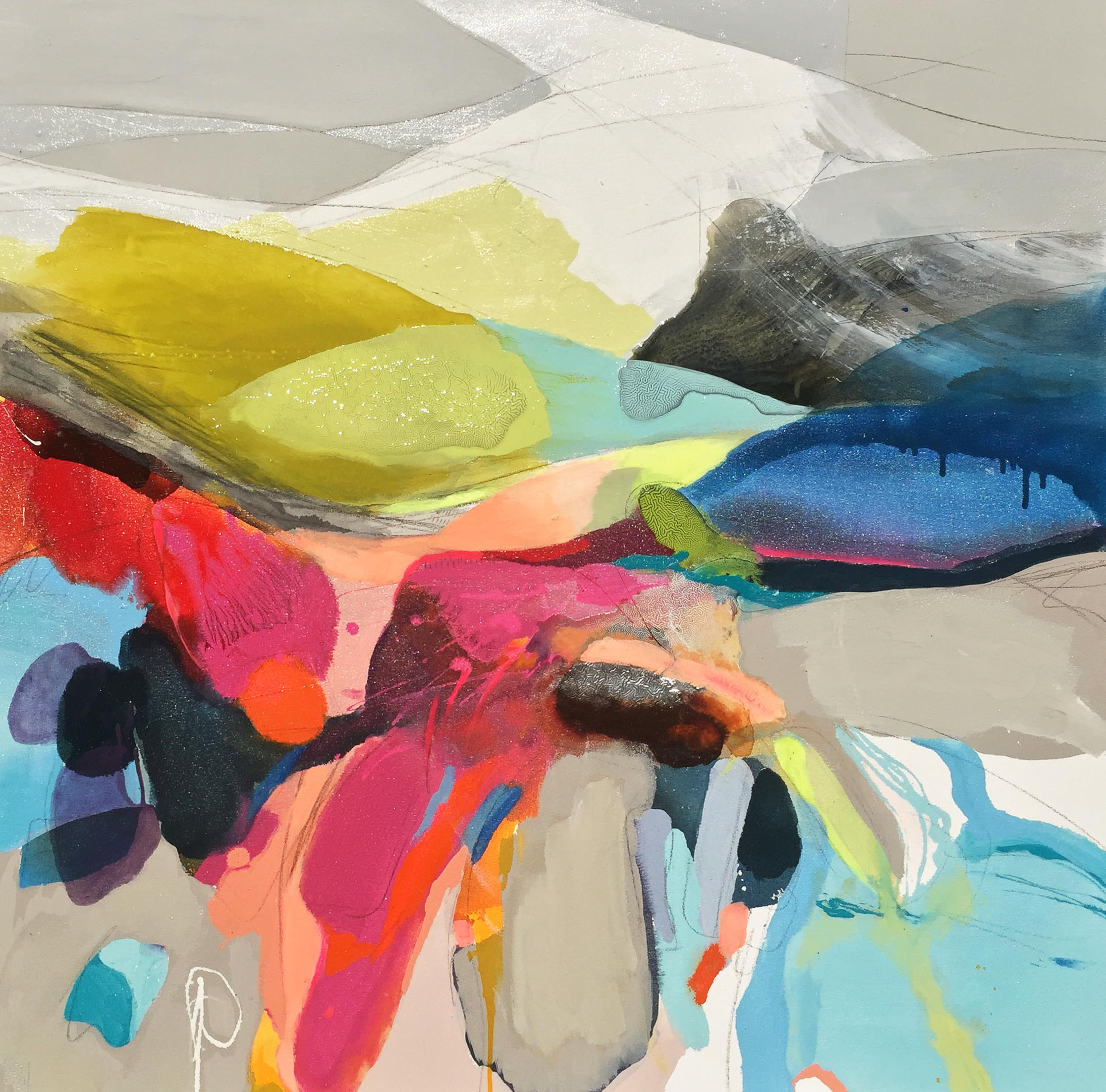 Vicky Sanders Abstract - Candy Mountain