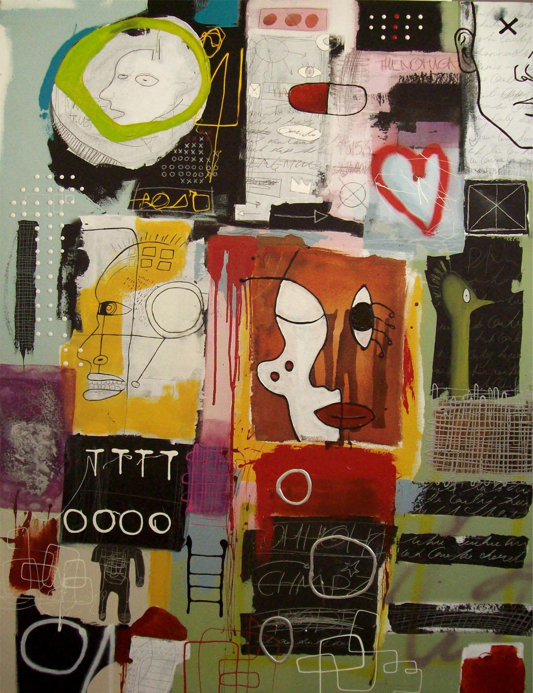 Vicky Sanders Abstract - Ching Chong Cha