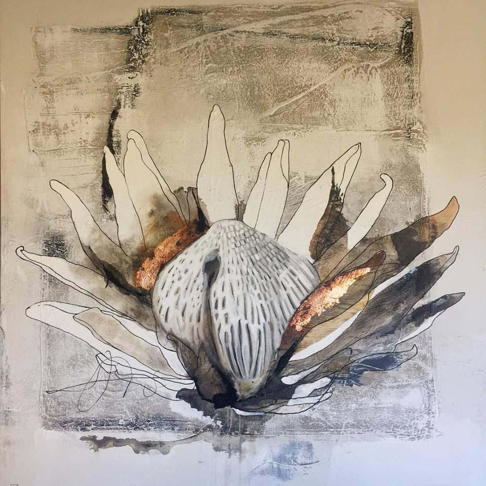 Vicky Sanders Protea Series - Copper Protea