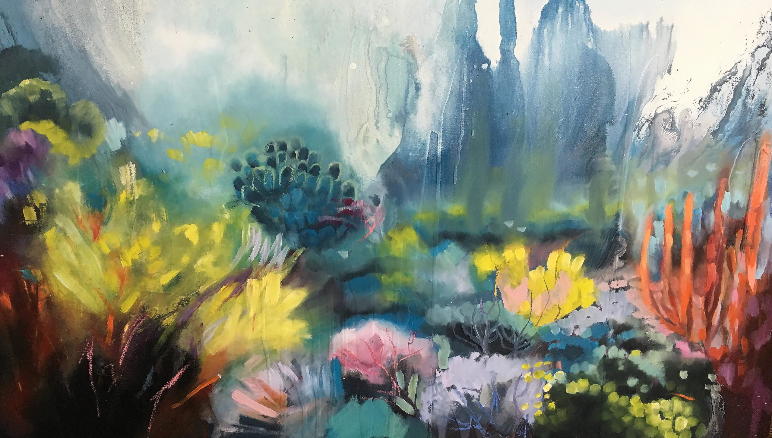 Vicky Sanders Abstract Botanical - Coral Reef
