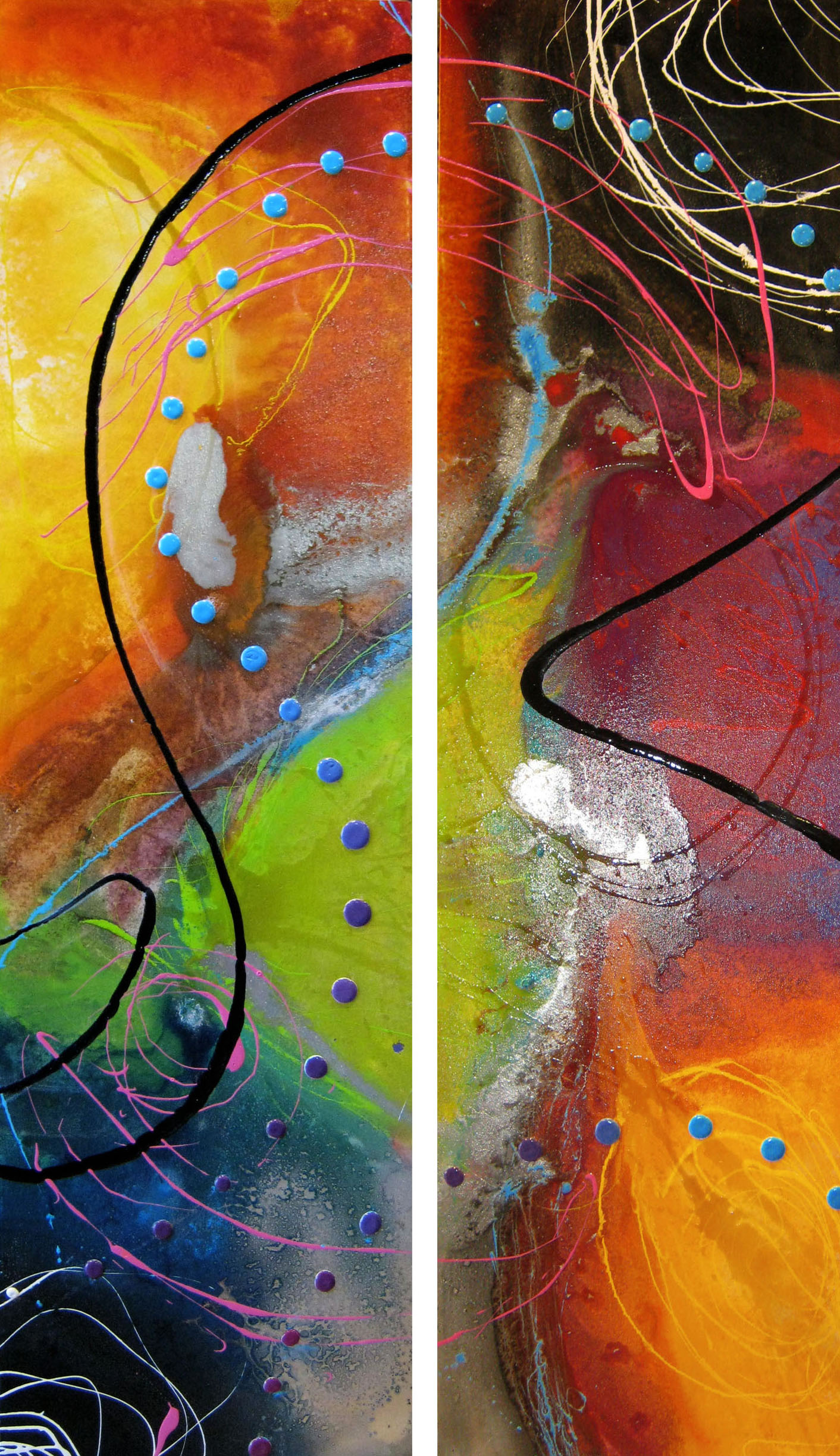 Vicky Sanders Abstract - Cosmos