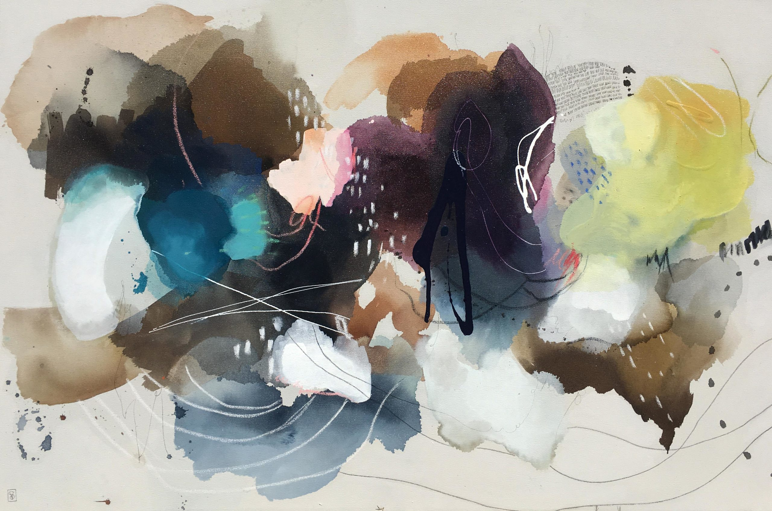 Vicky Sanders Abstract - Cotton Clouds