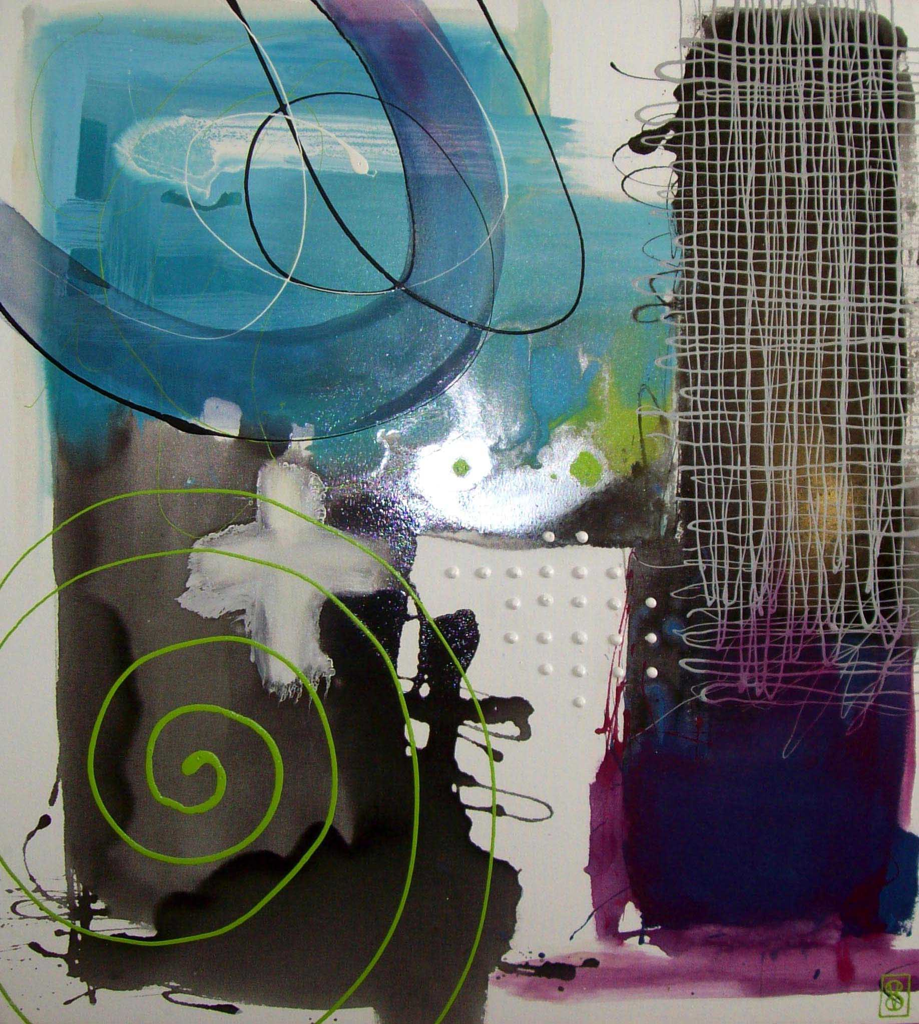 Vicky Sanders Abstract - Dance With Me in Blue
