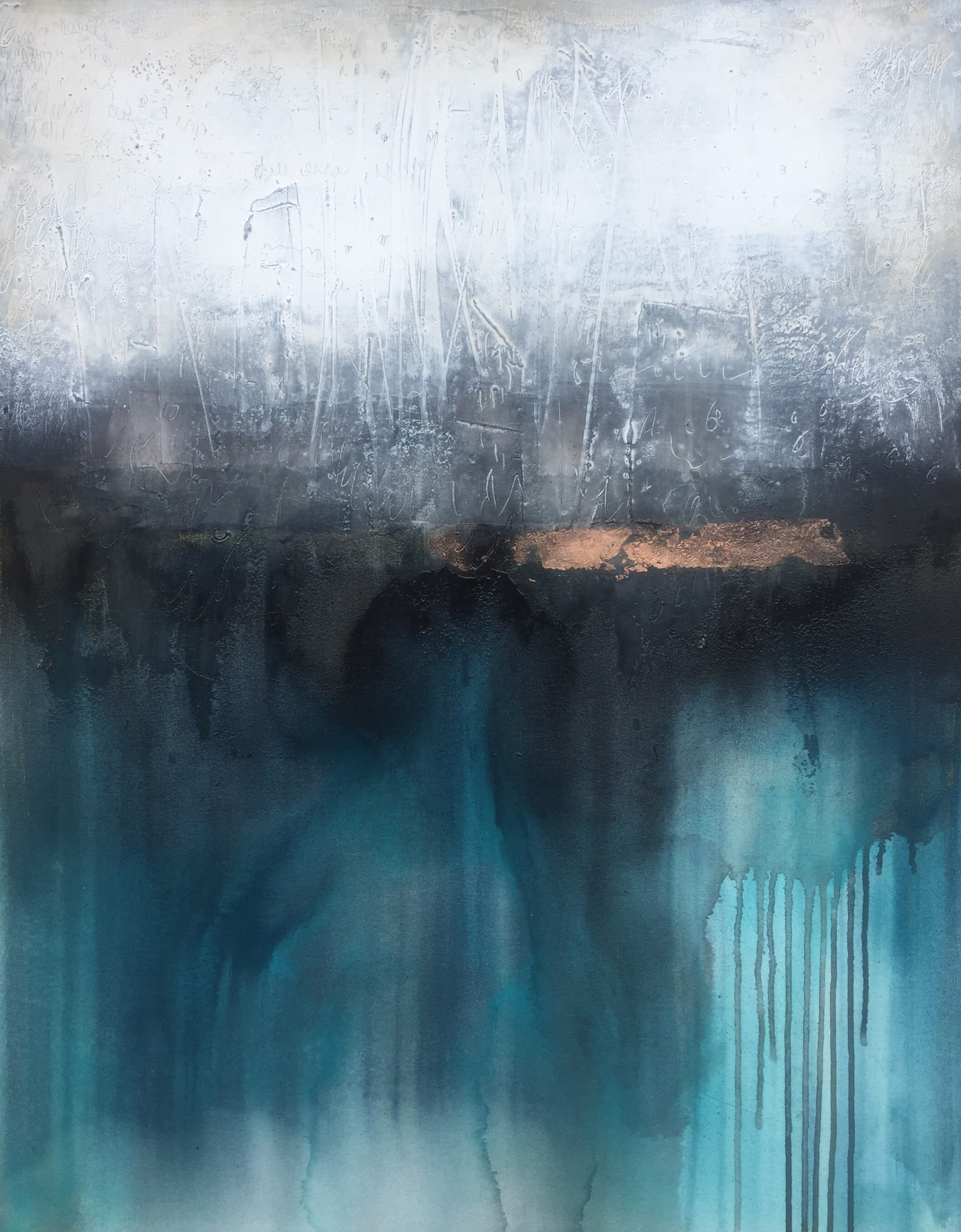 Vicky Sanders Abstract Figurative - Deep Pool