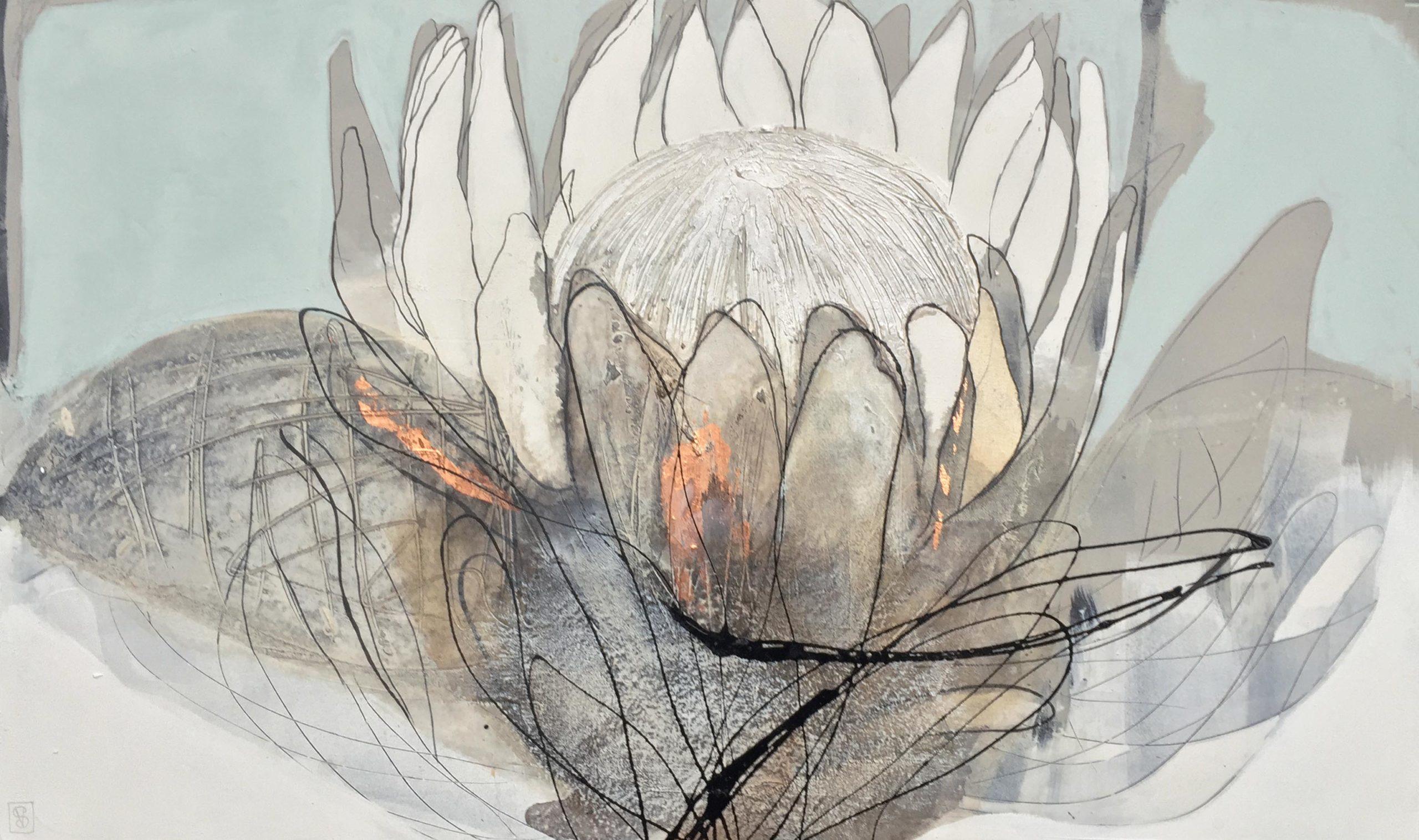 Vicky Sanders Protea Series - Duckegg Protea