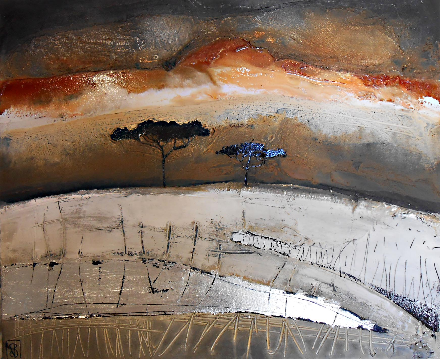 Vicky Sanders Abstract Figurative - Dust Storm