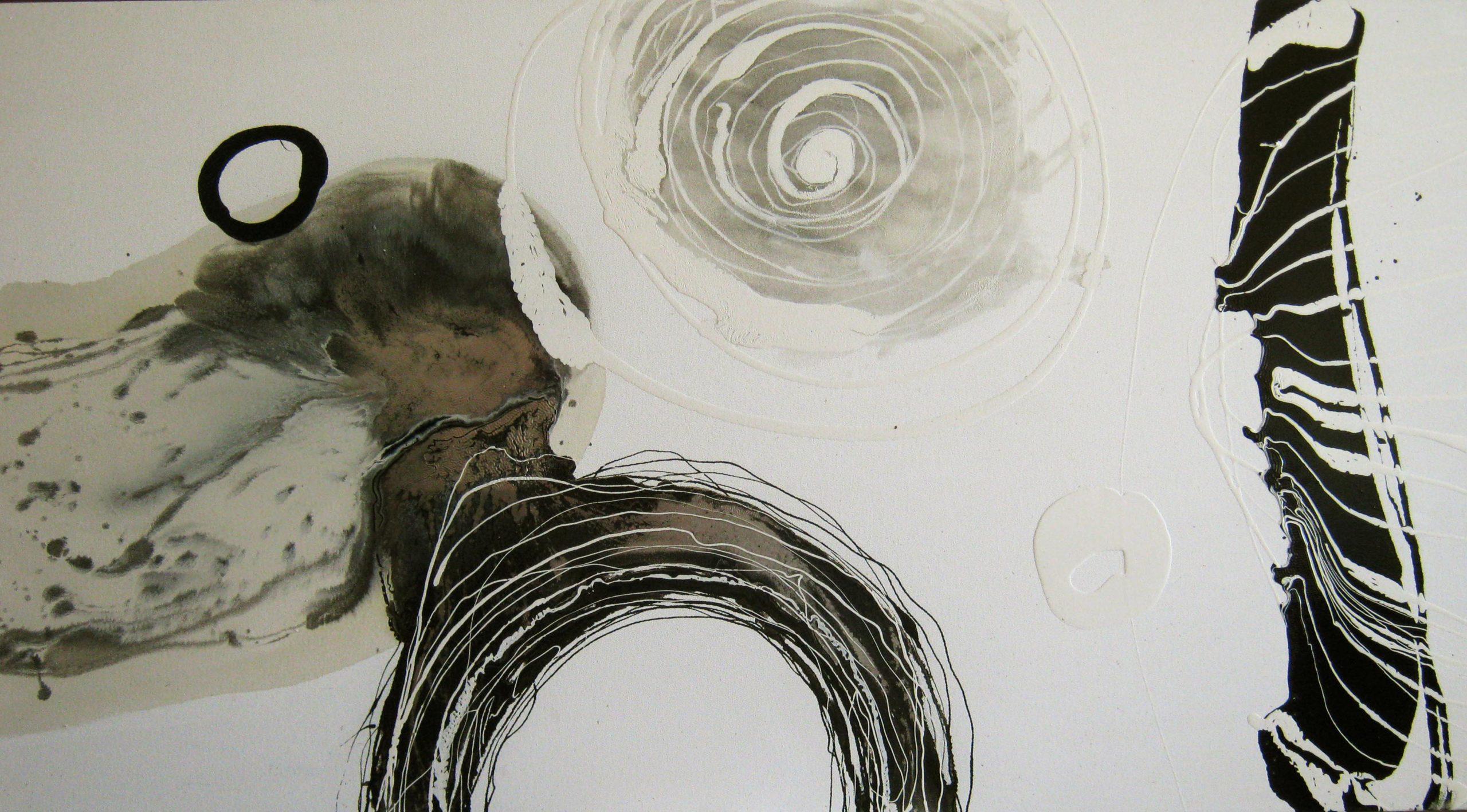 Vicky Sanders Abstract - Ebony and Ivory