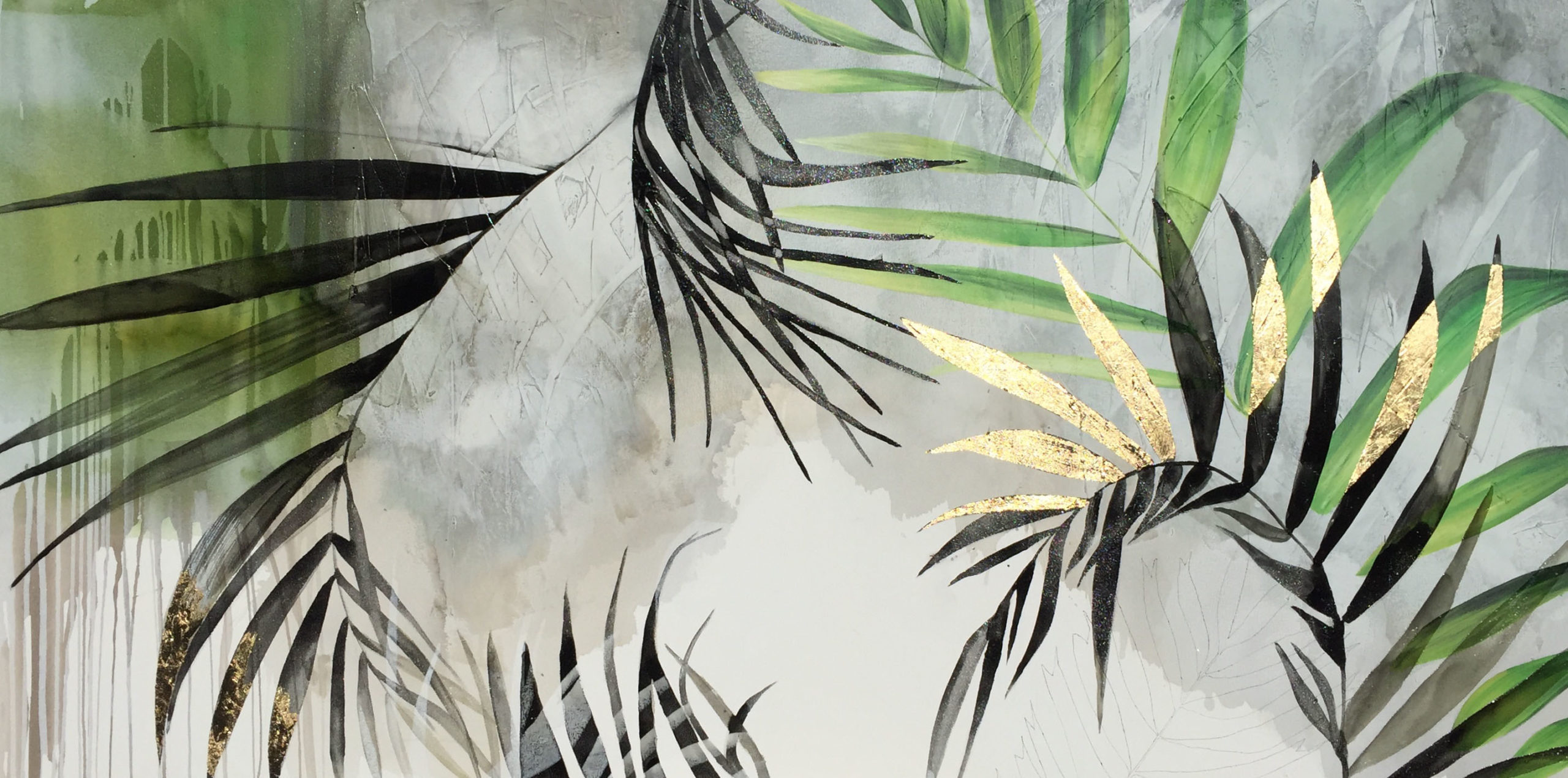 Vicky Sanders Abstract Botanical - Ferngully