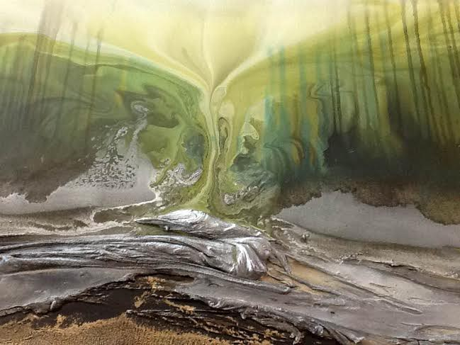 Vicky Sanders Abstract Botanical - Forest