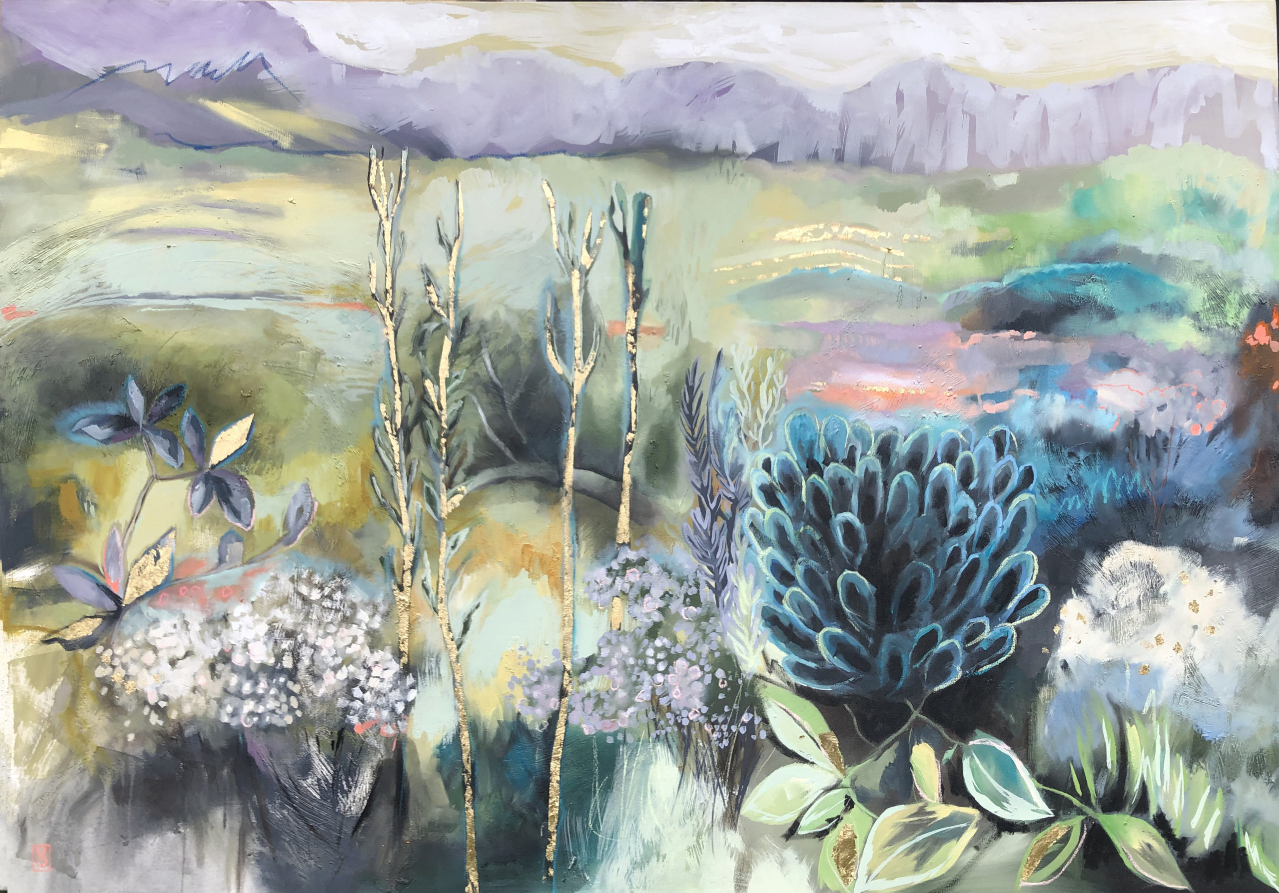 Vicky Sanders Abstract Botanical - Fynbos