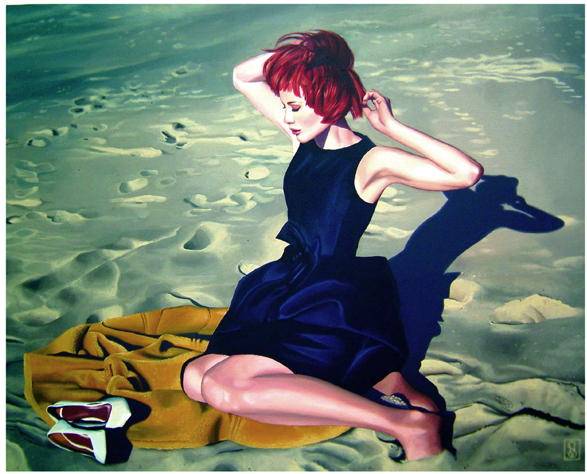 Vicky Sanders Realistic - Girl on Beach