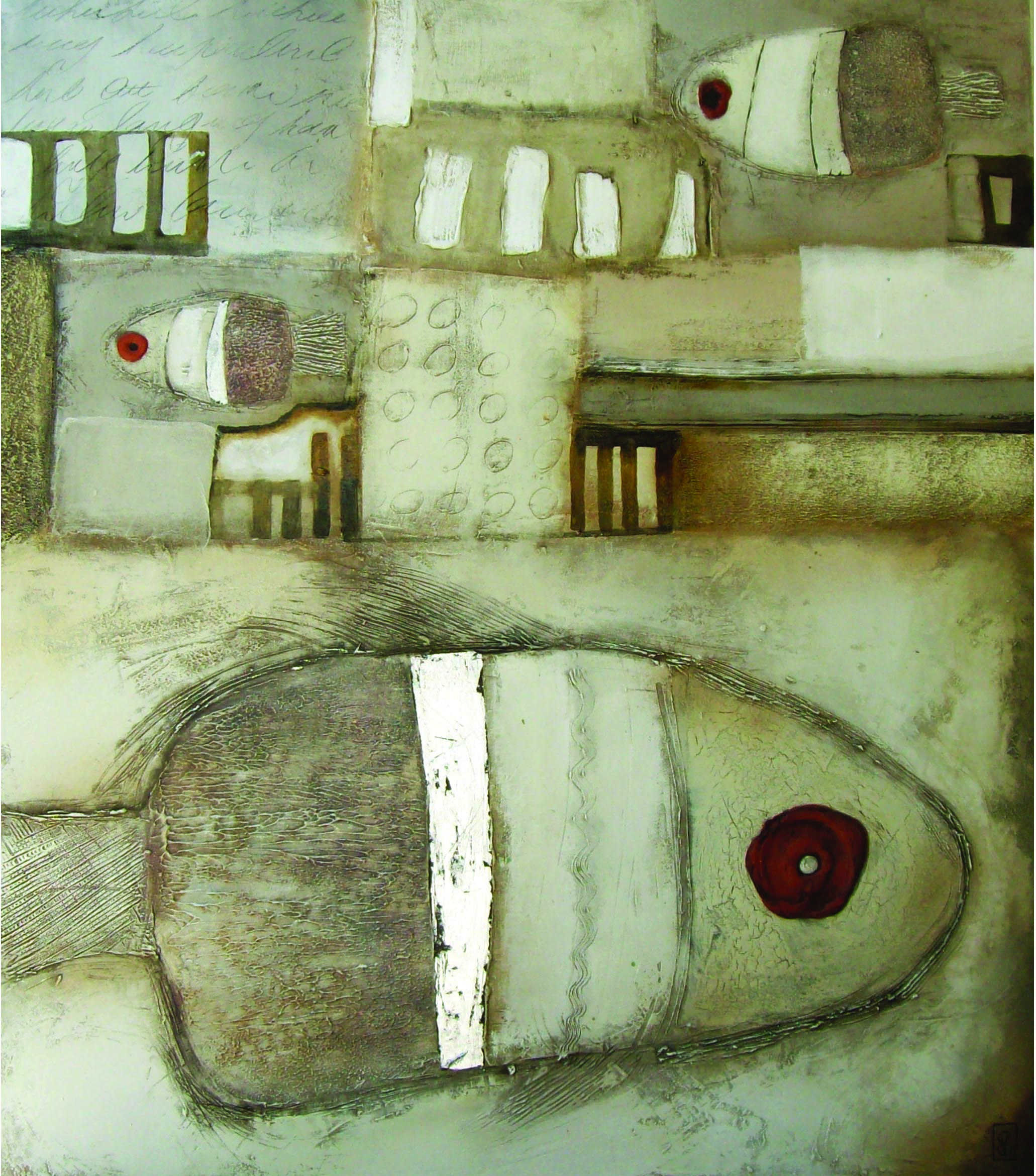 Vicky Sanders Abstract Figurative - Go Fish