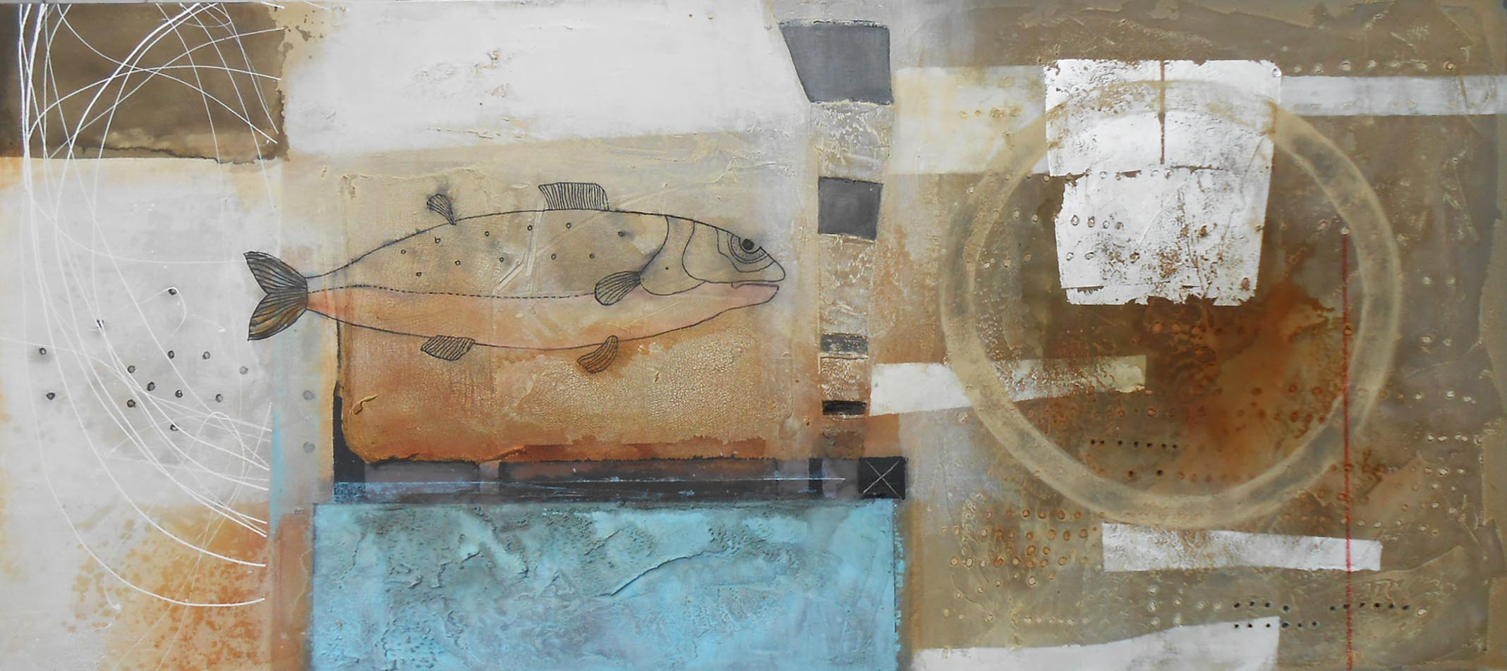 Vicky Sanders Abstract Figurative - Great Expectations