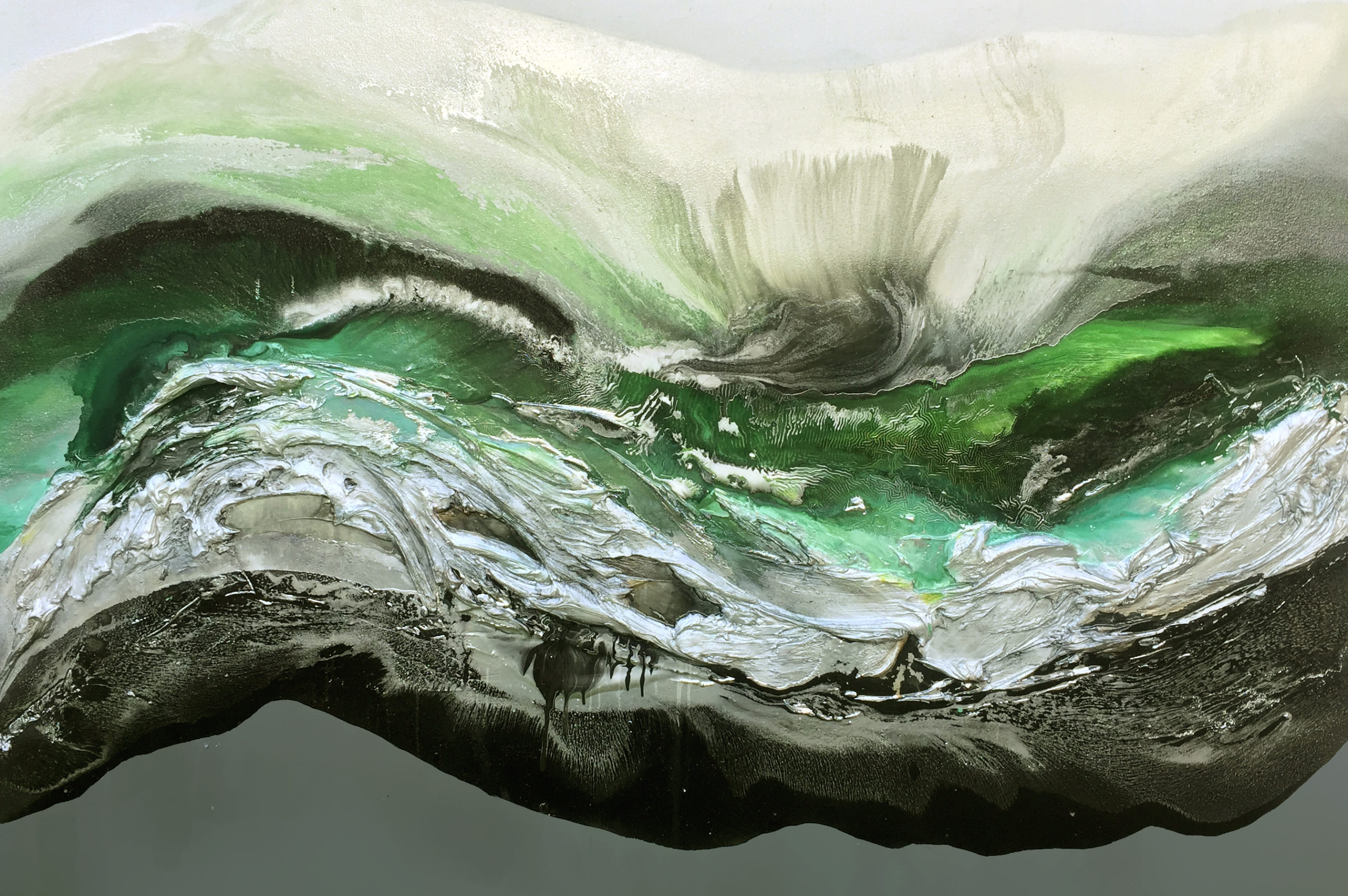 Vicky Sanders Seascapes - Green Escape