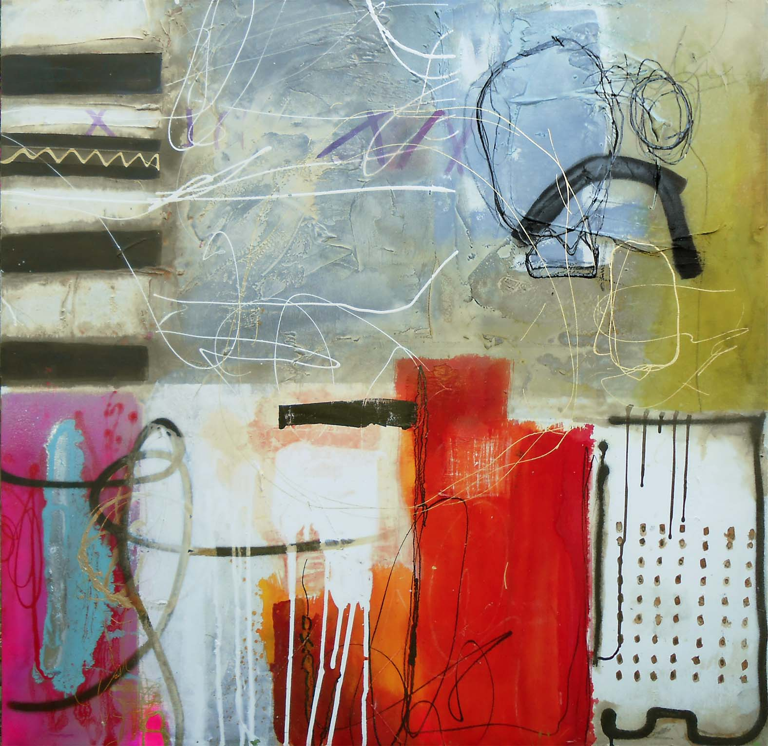 Vicky Sanders Abstract - Happy Dance