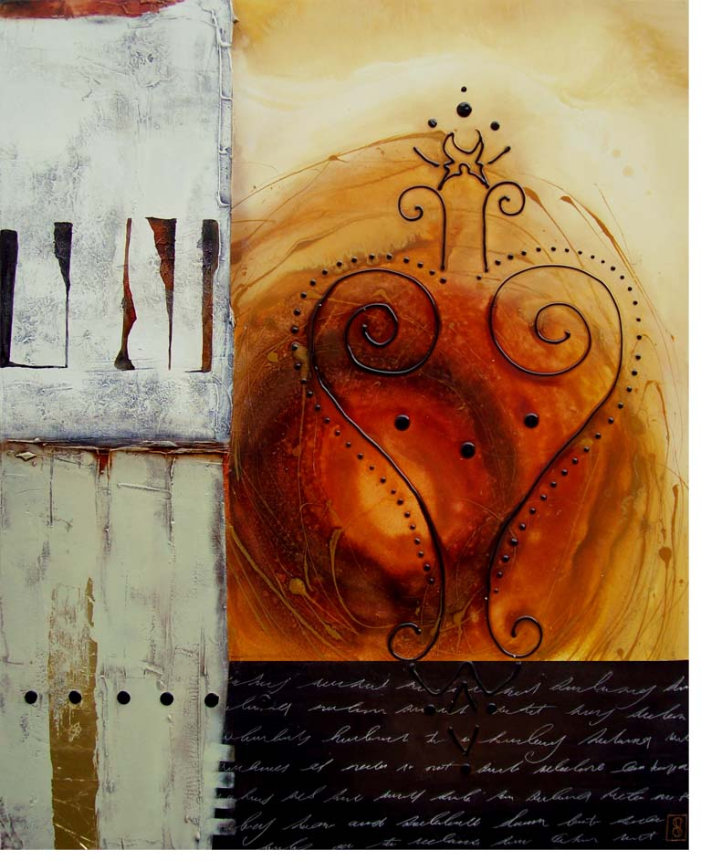 Vicky Sanders Abstract - Key To My Heart