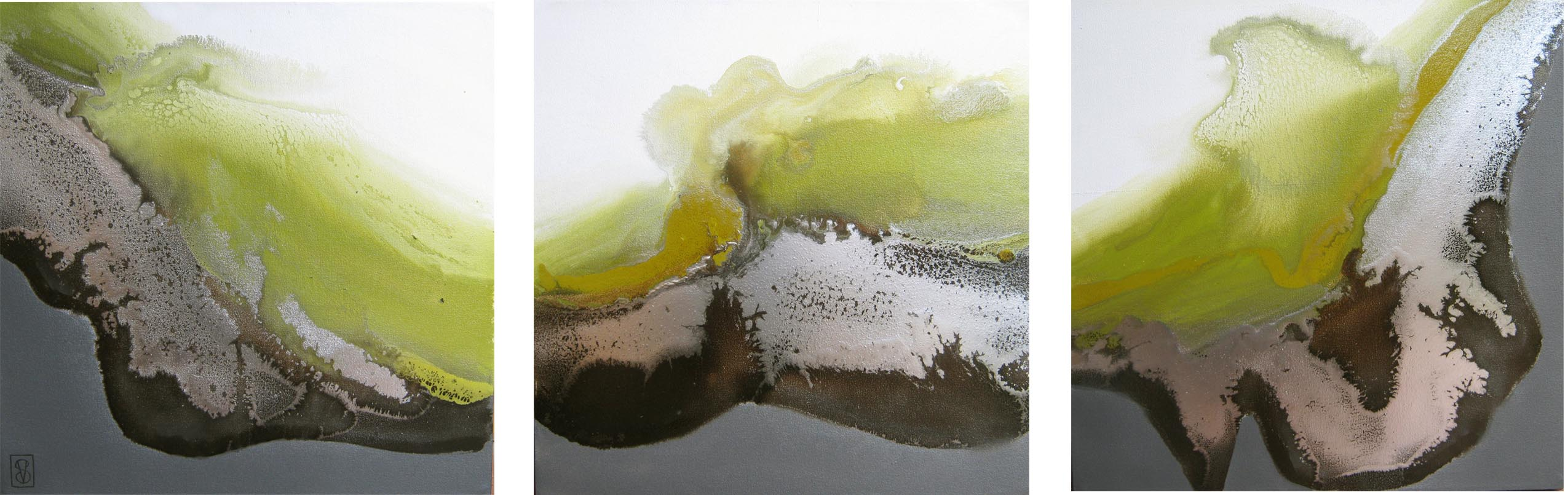Vicky Sanders Abstract - Lime Crush