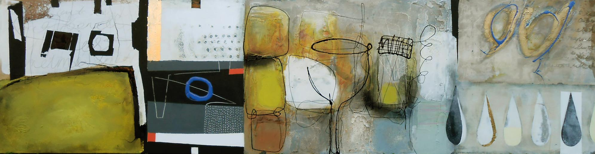Vicky Sanders Abstract Figurative - Meet Me at The Bar