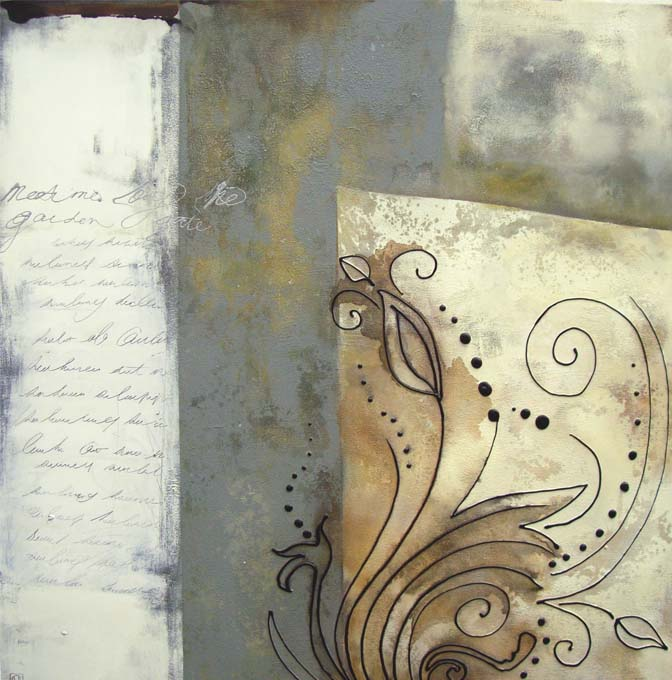 Vicky Sanders Abstract - Meet Me at The Garden Gate