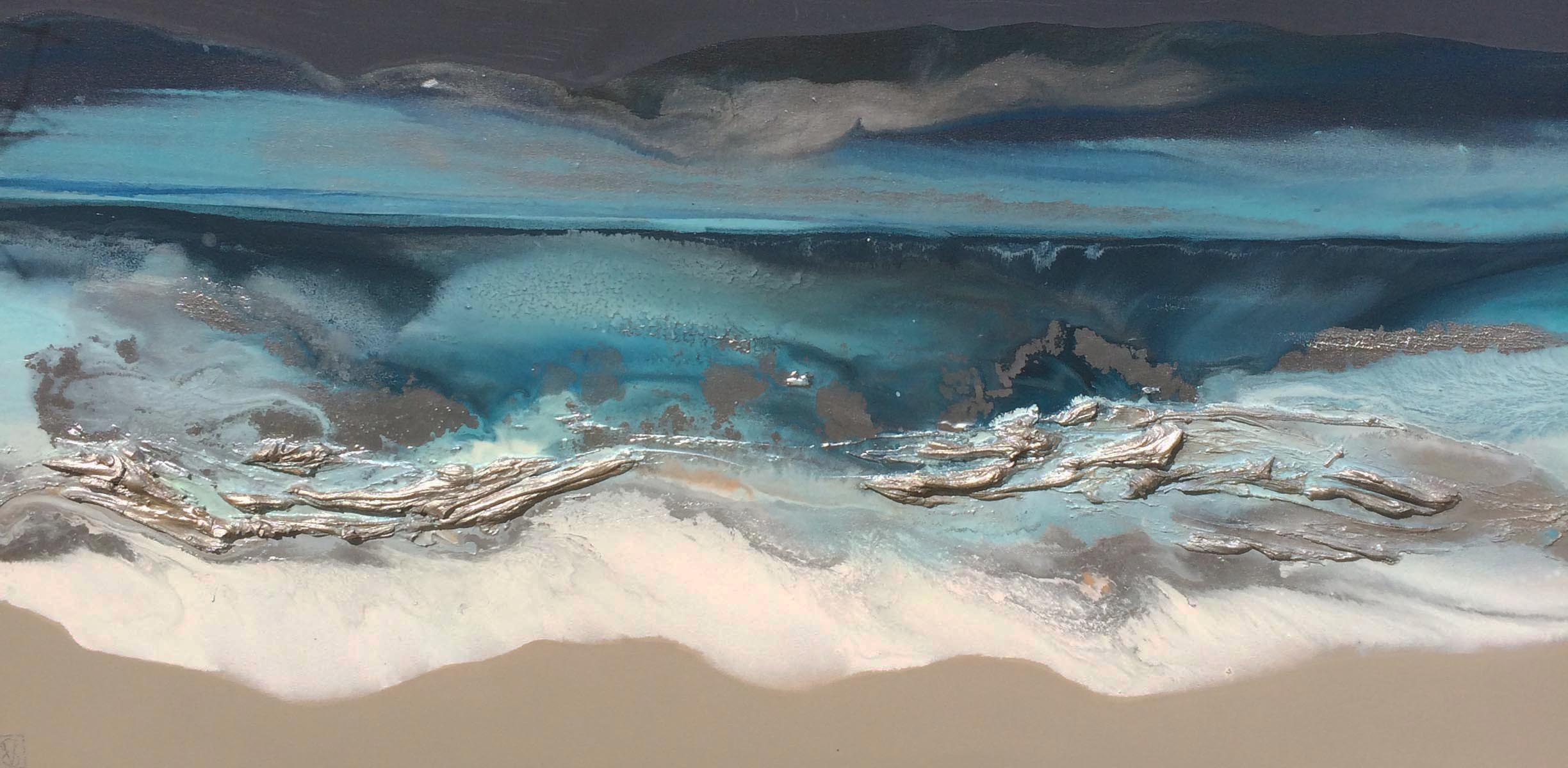 Vicky Sanders Seascapes - Night Swimming #2