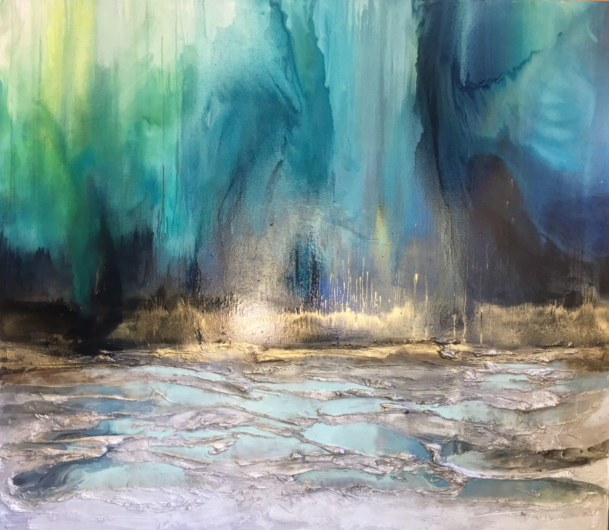 Vicky Sanders Abstract - Northern Lights