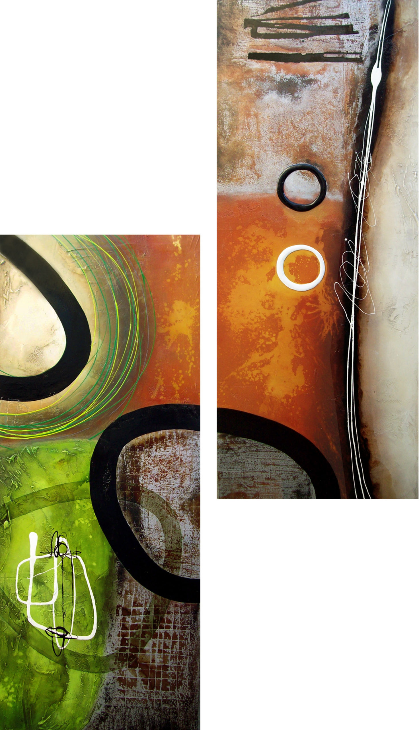 Vicky Sanders Abstract - Oranges and Limes