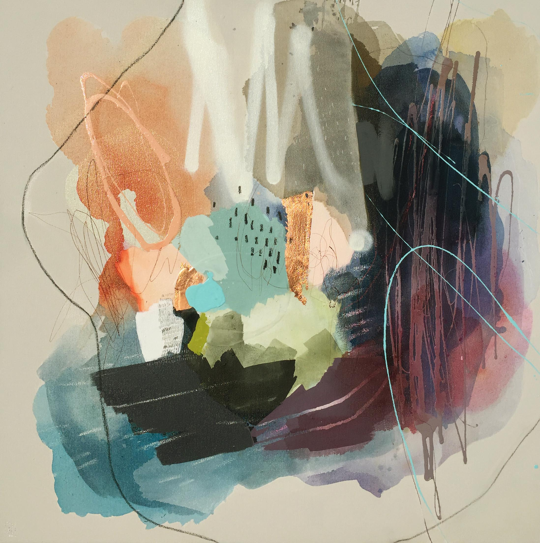 Vicky Sanders Abstract - Pastel Persuasion #2
