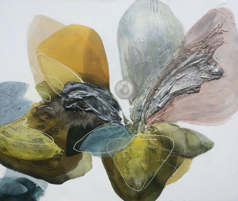 Vicky Sanders Abstract Botanical - Petal Pearl