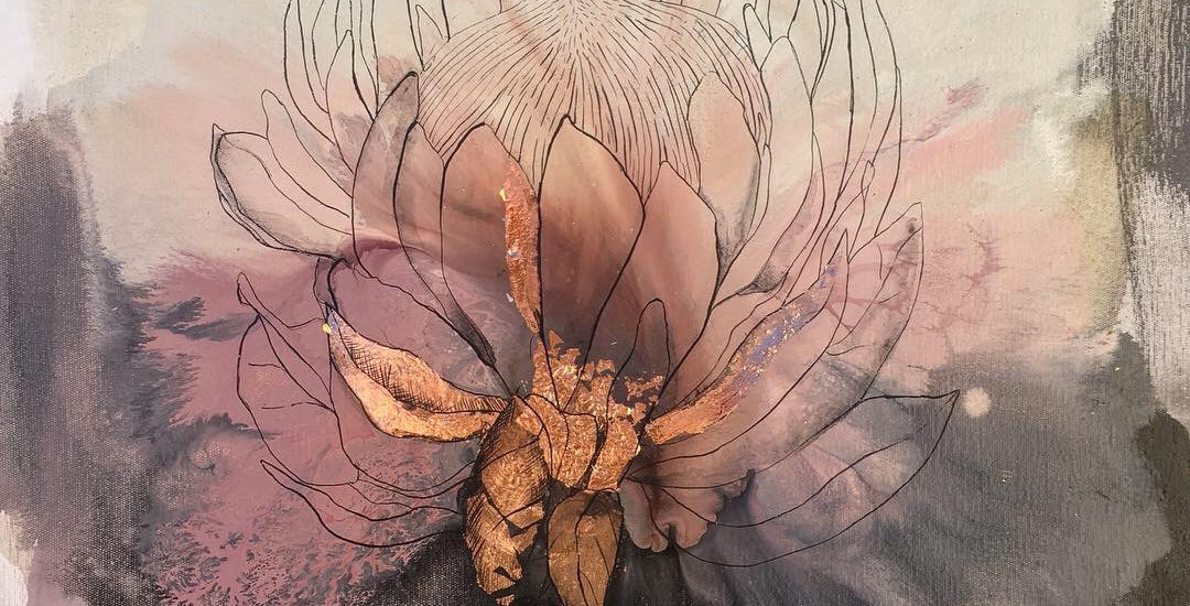 Vicky Sanders Protea Series - Pink Protea #1