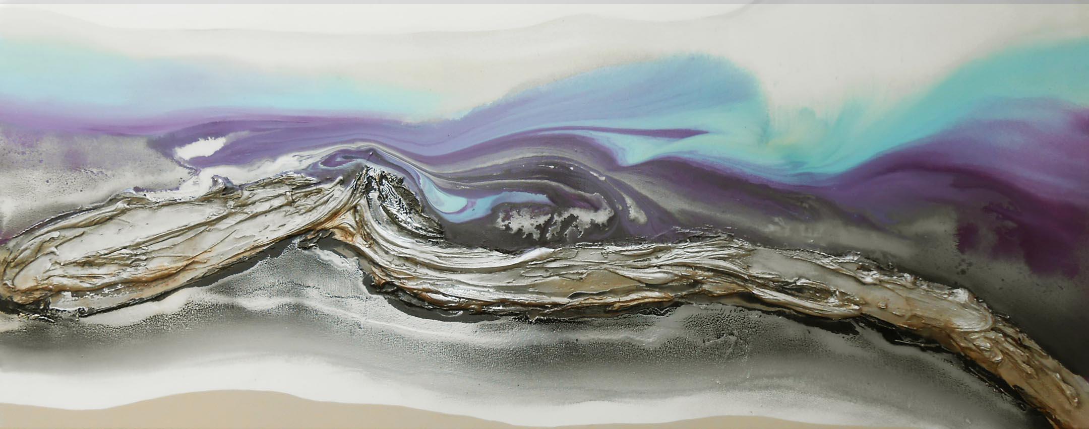 Vicky Sanders Seascapes - Purple Seascape