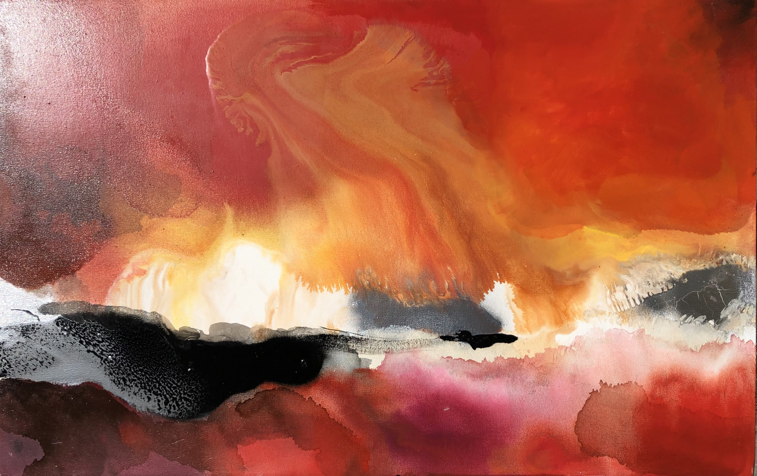 Vicky Sanders Abstract - Red Hot