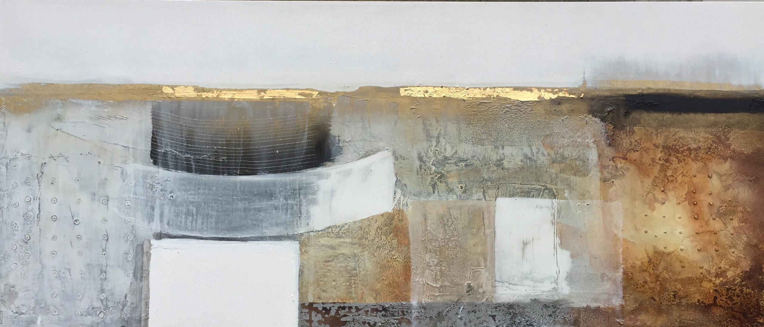 Vicky Sanders Abstract - Rusted Fusion