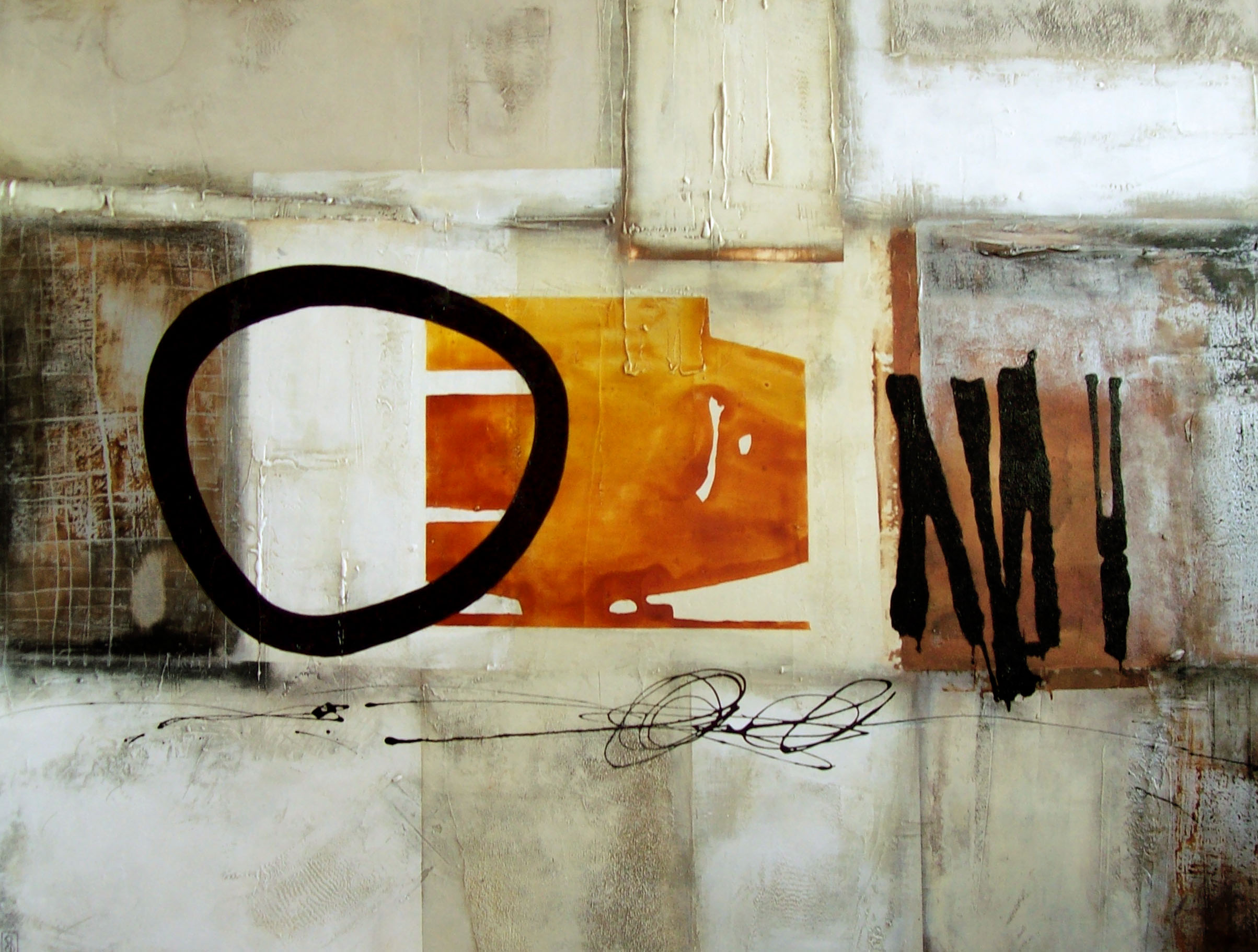 Vicky Sanders Abstract - Sunny Side Up