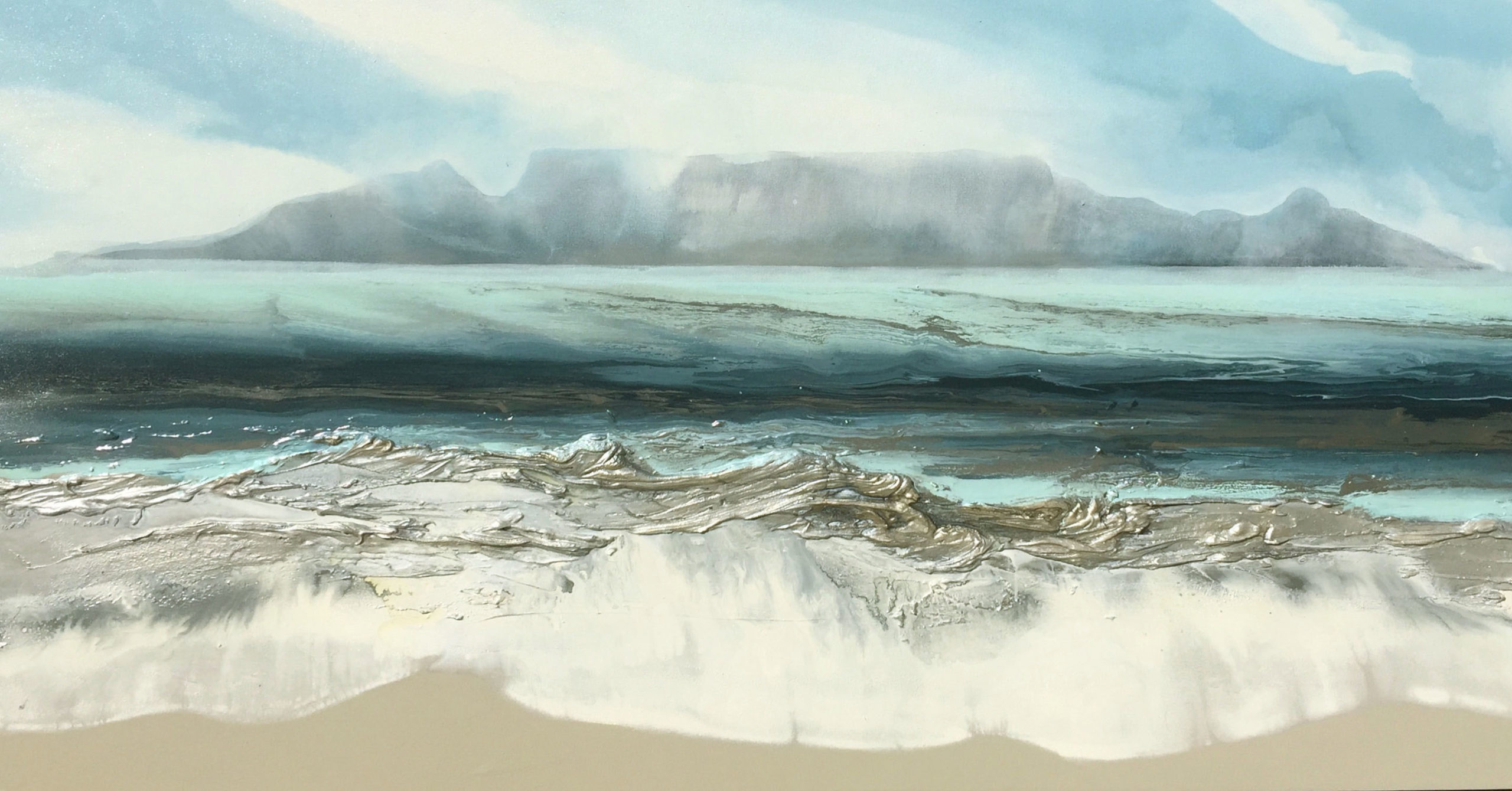 Vicky Sanders Seascapes - Table Mountain