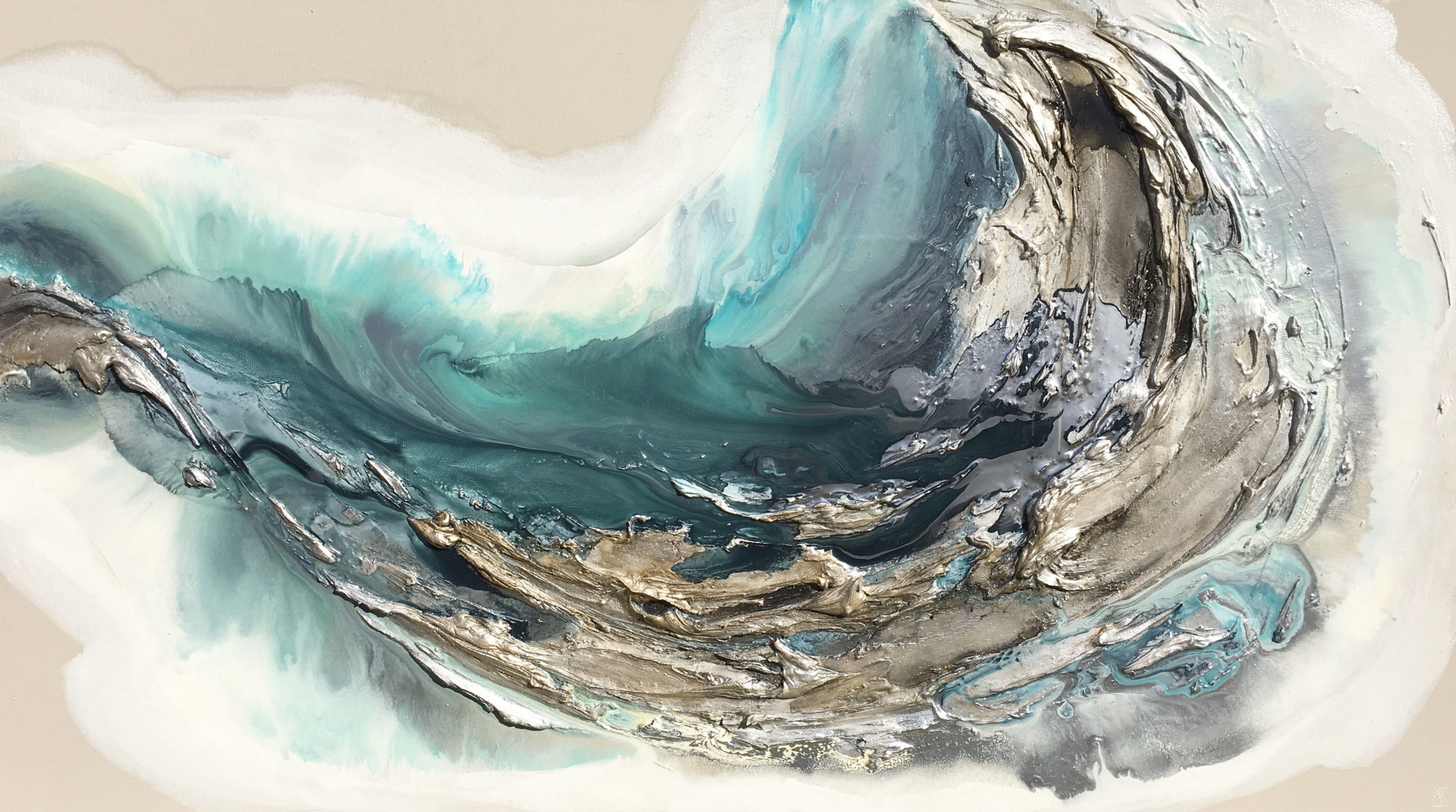 Vicky Sanders Oyster Series - Teal Oyster