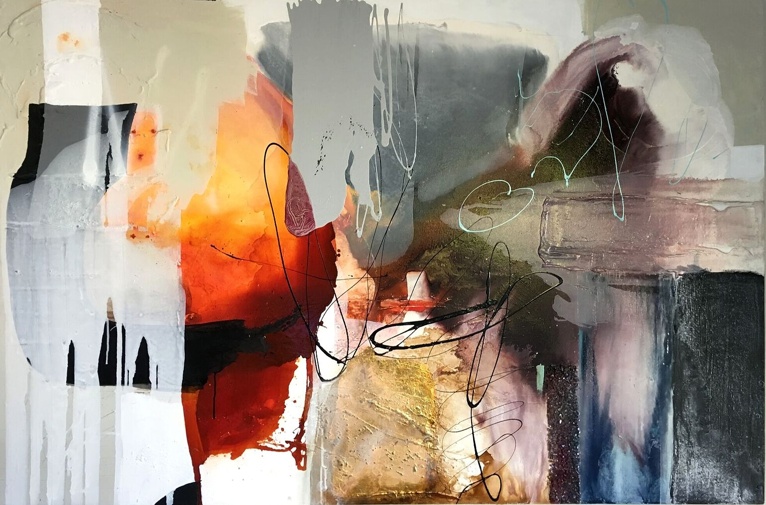 Vicky Sanders Abstract - The Kingdom Within