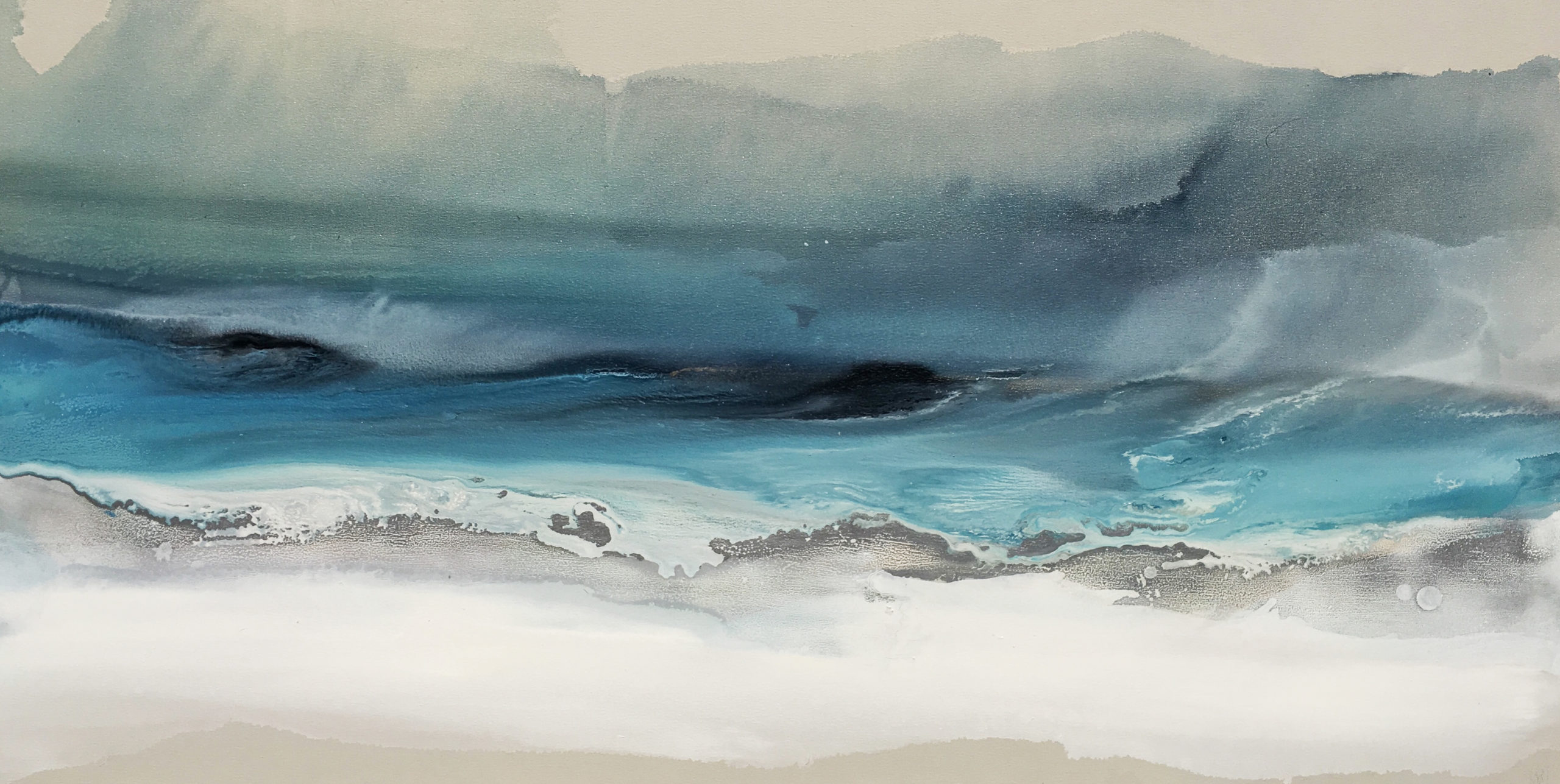 Vicky Sanders Seascapes - Winter Sea