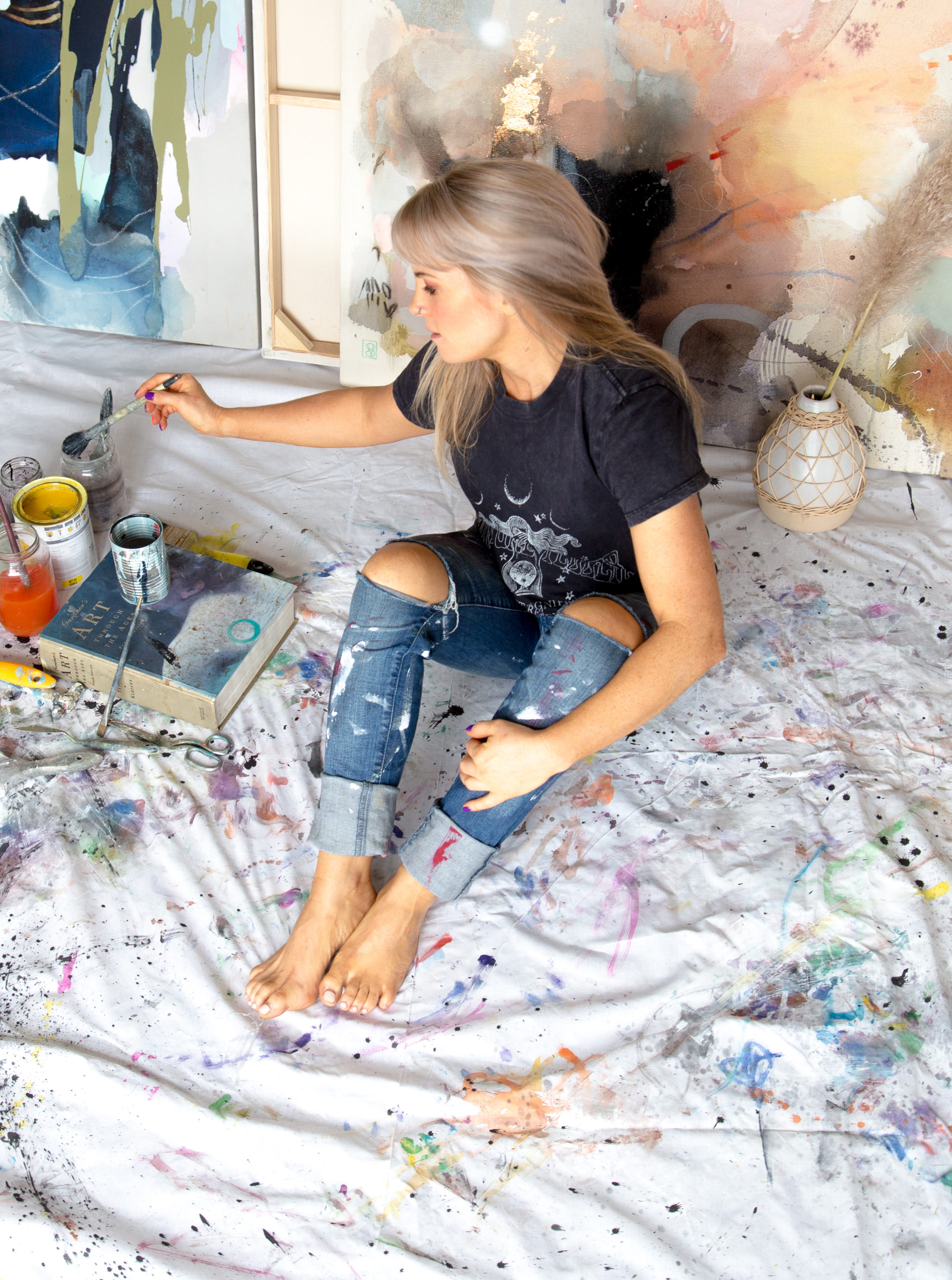 Vicky Sanders with Paint