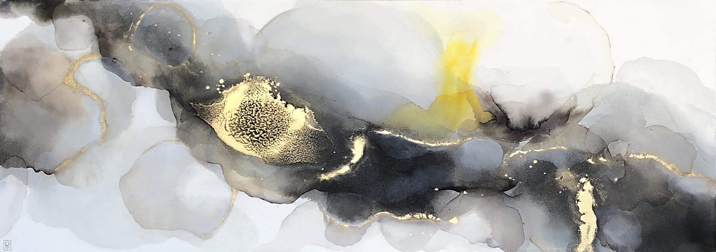 Vicky Sanders Abstract - Inky Clouds